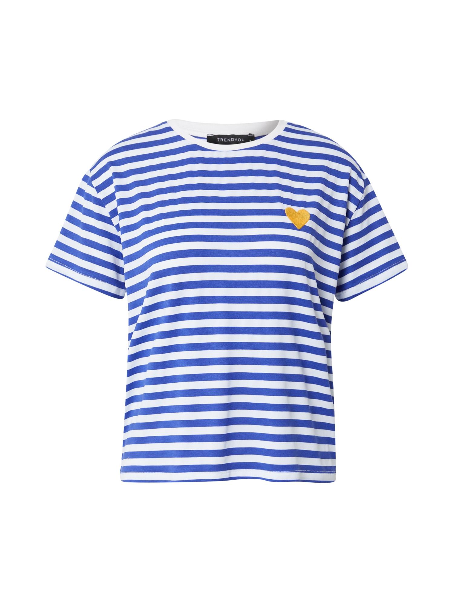 Trendyol Tričko  námořnická modř / bílá / hořčicová
