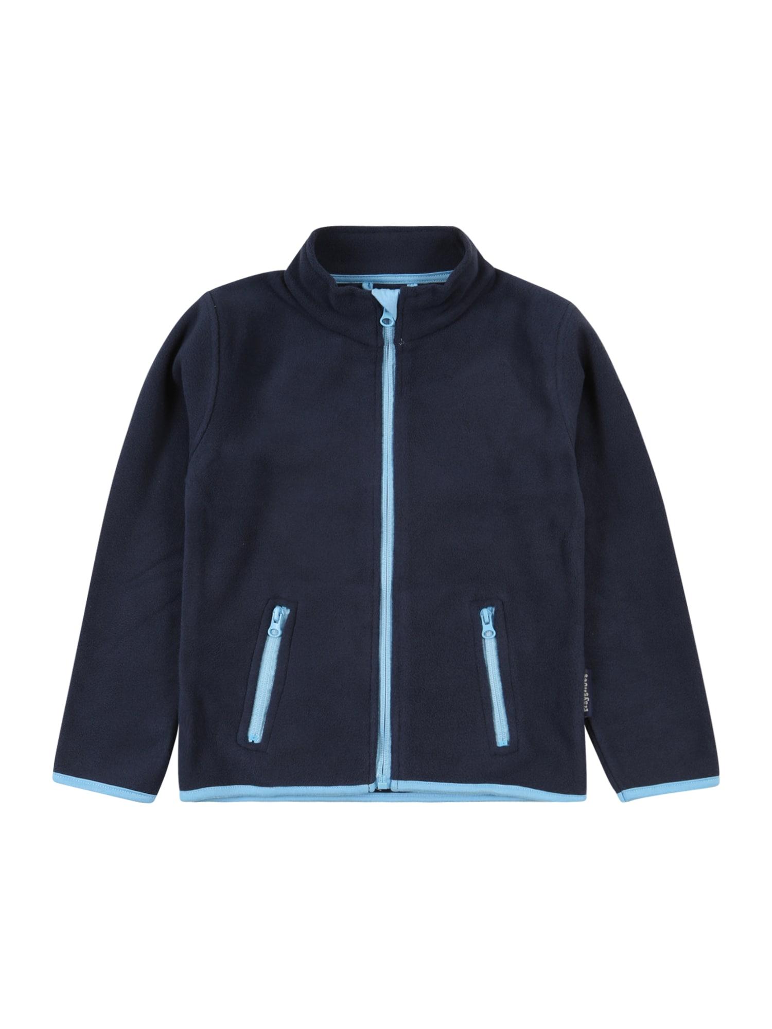 PLAYSHOES Fleecová mikina  tmavě modrá / nebeská modř