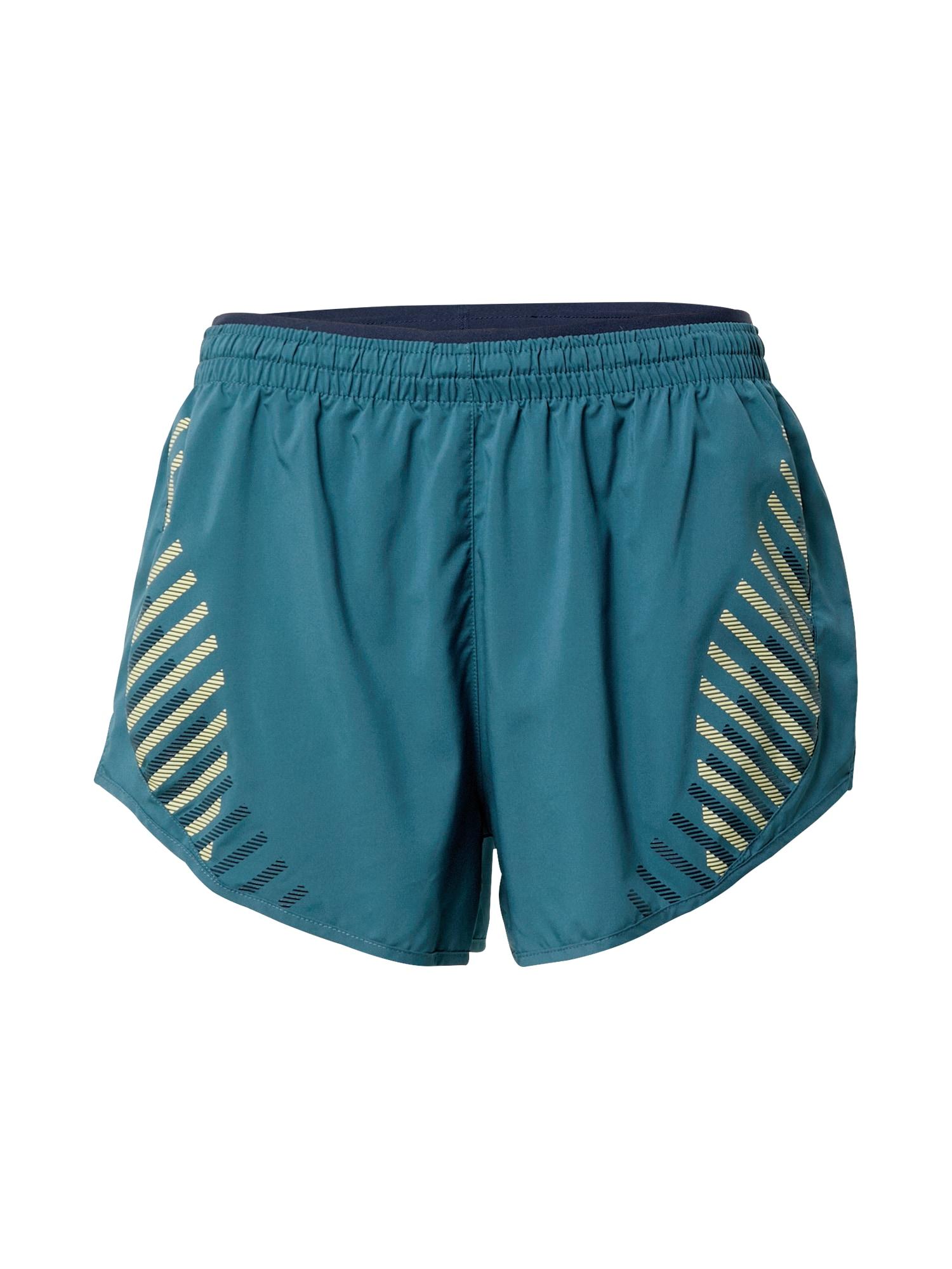 NIKE Sportovní kalhoty 'Tempo Luxe'  petrolejová / žlutá / černá