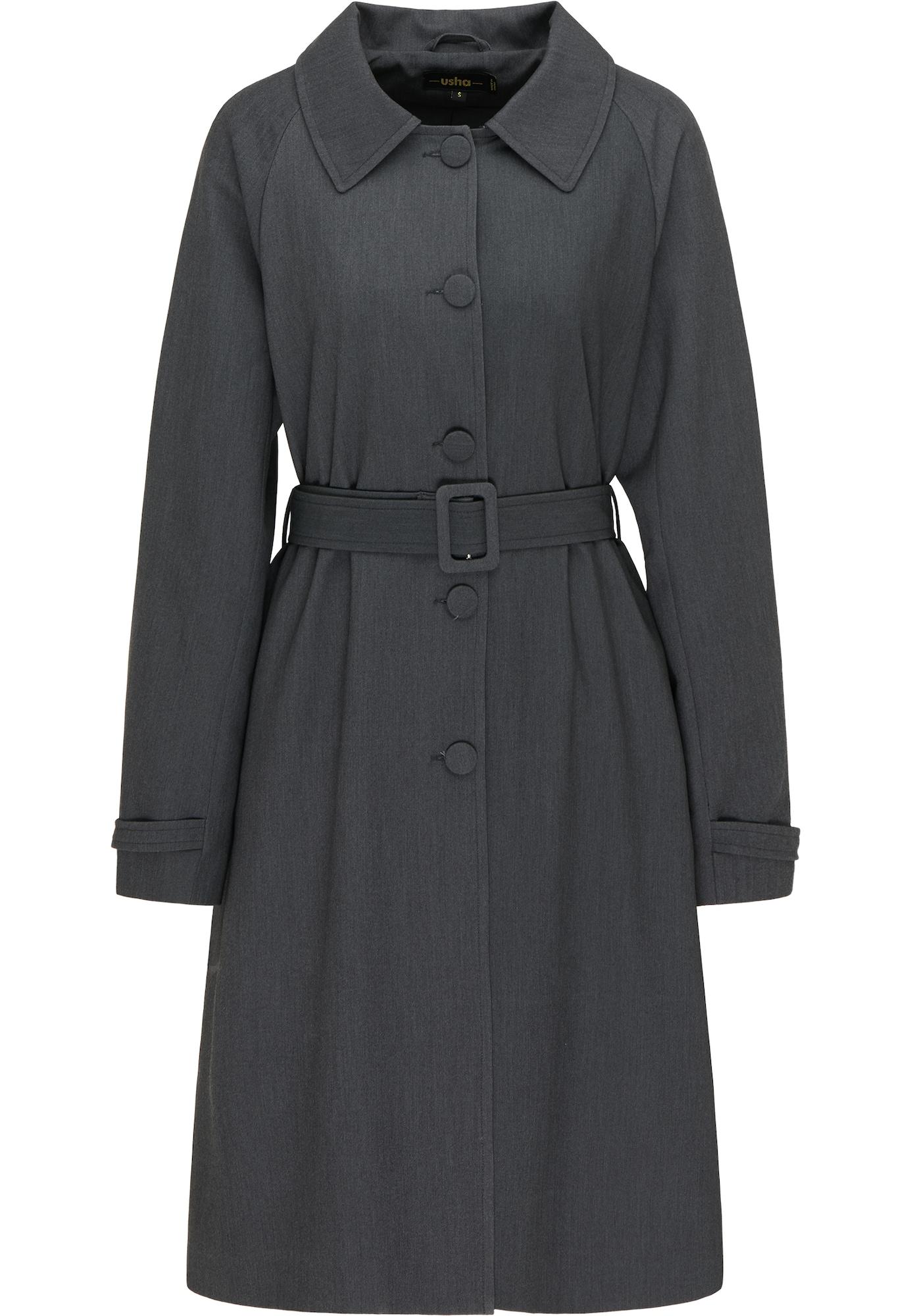 usha BLACK LABEL Demisezoninis paltas tamsiai pilka