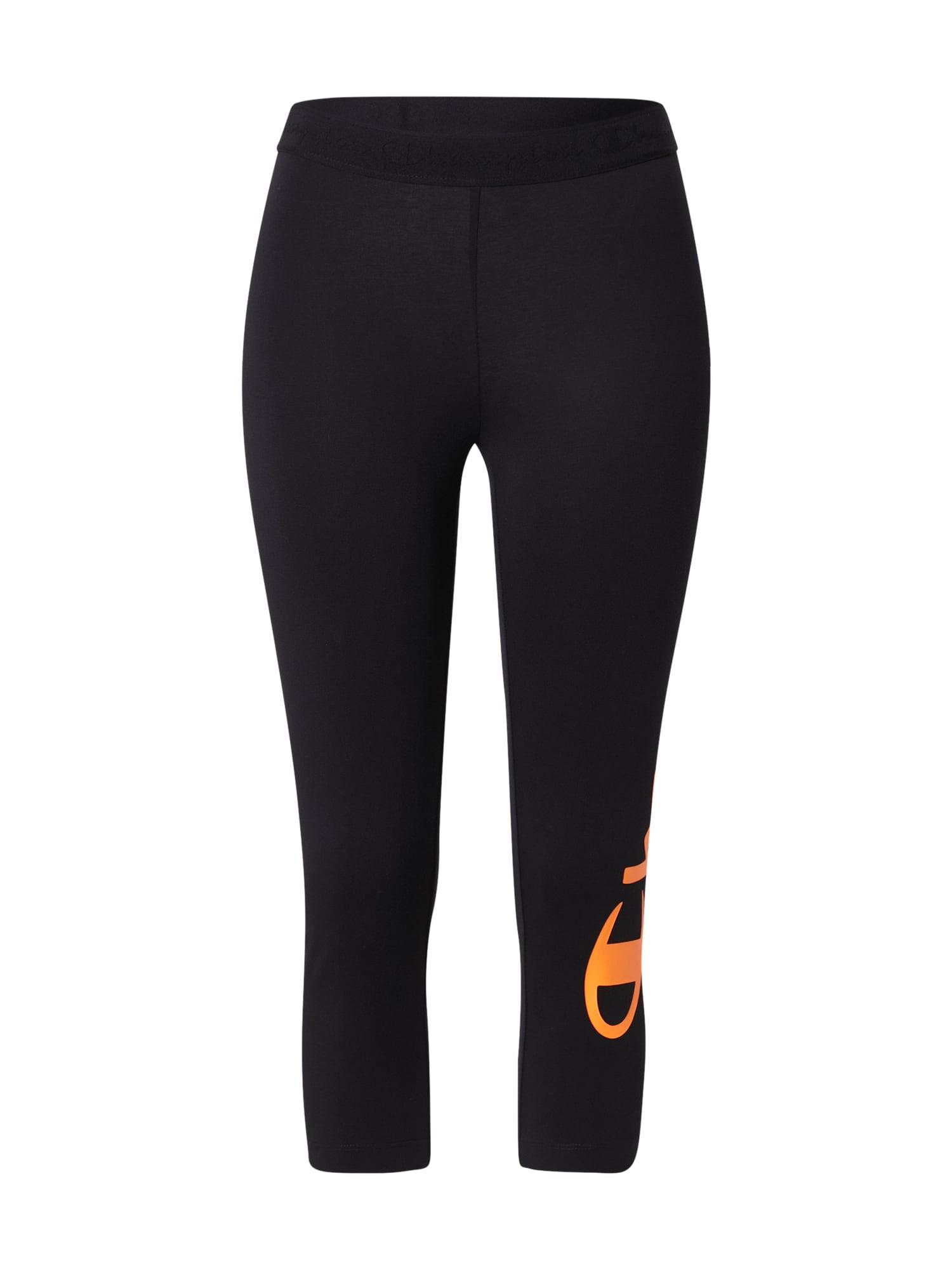 Champion Authentic Athletic Apparel Sportovní kalhoty  černá / oranžová