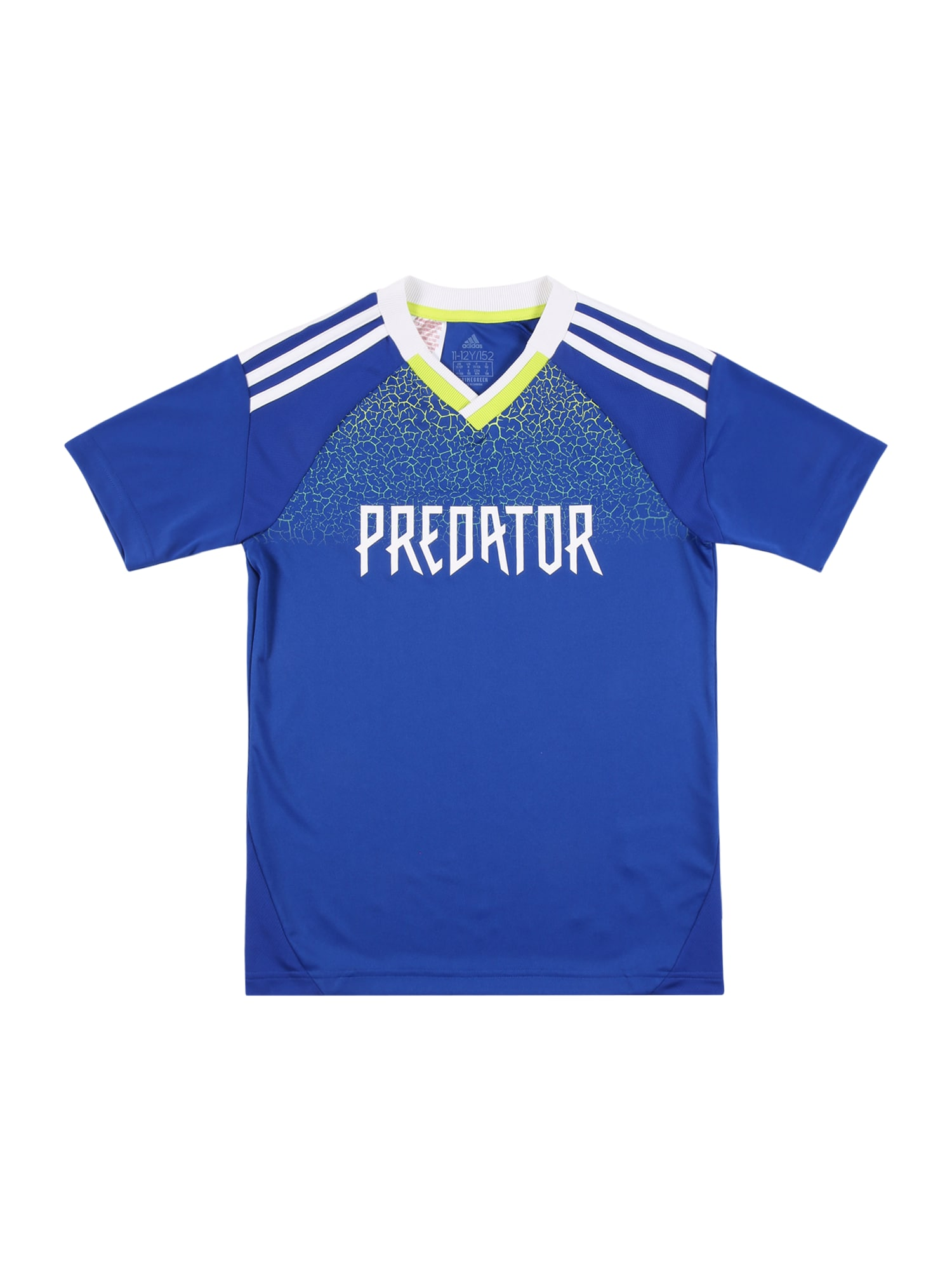 """ADIDAS PERFORMANCE Sportiniai marškinėliai 'Predator' sodri mėlyna (""""karališka"""") / balta / geltona"""