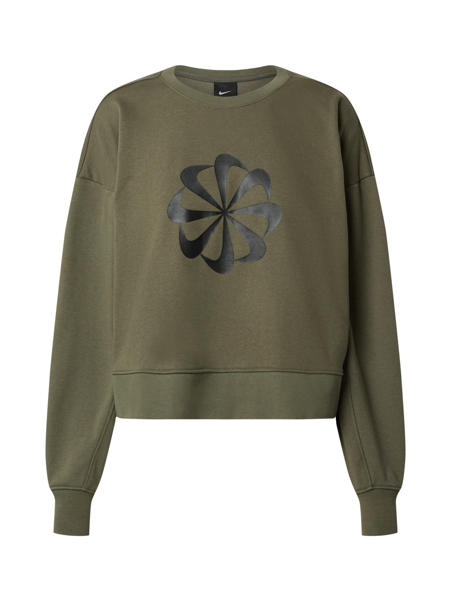 NIKE Sportinio tipo megztinis rusvai žalia