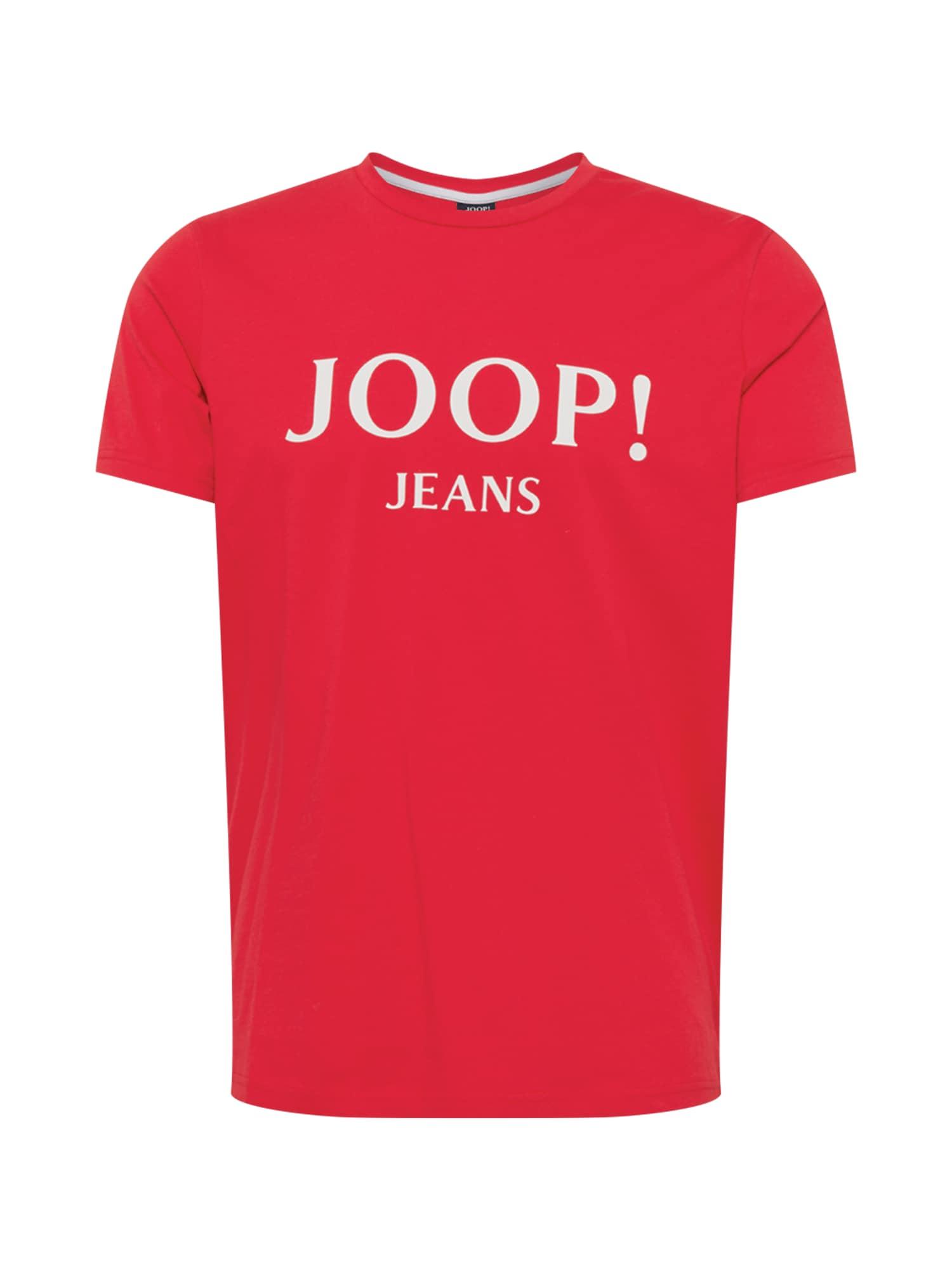 JOOP! Jeans Marškinėliai raudona / balta