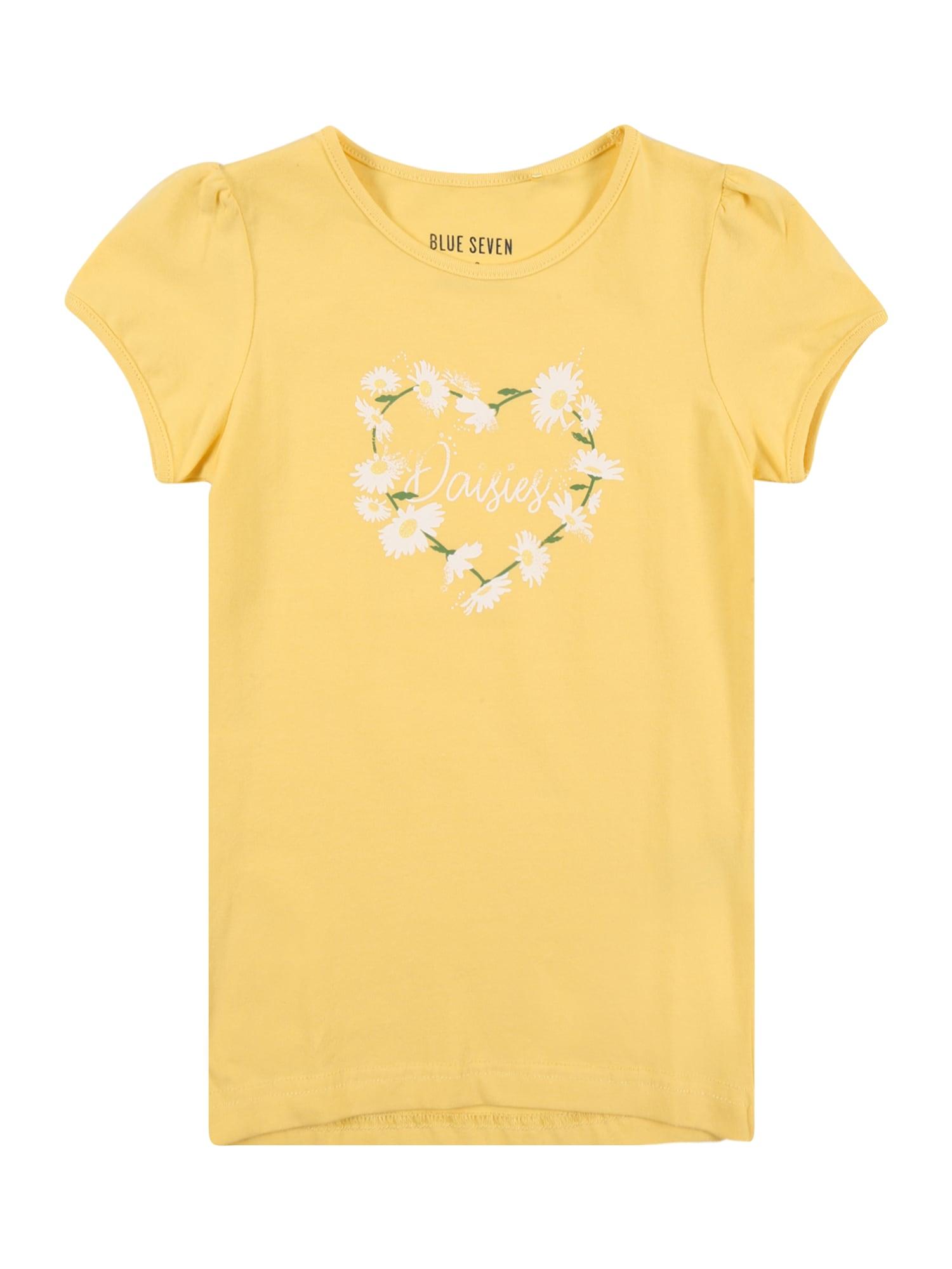 BLUE SEVEN Marškinėliai geltona / balta / žalia