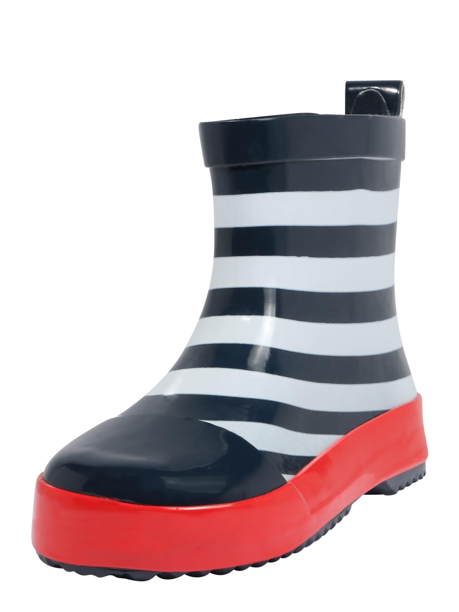 PLAYSHOES Guminiai batai balta / tamsiai mėlyna jūros spalva / kraujo spalva