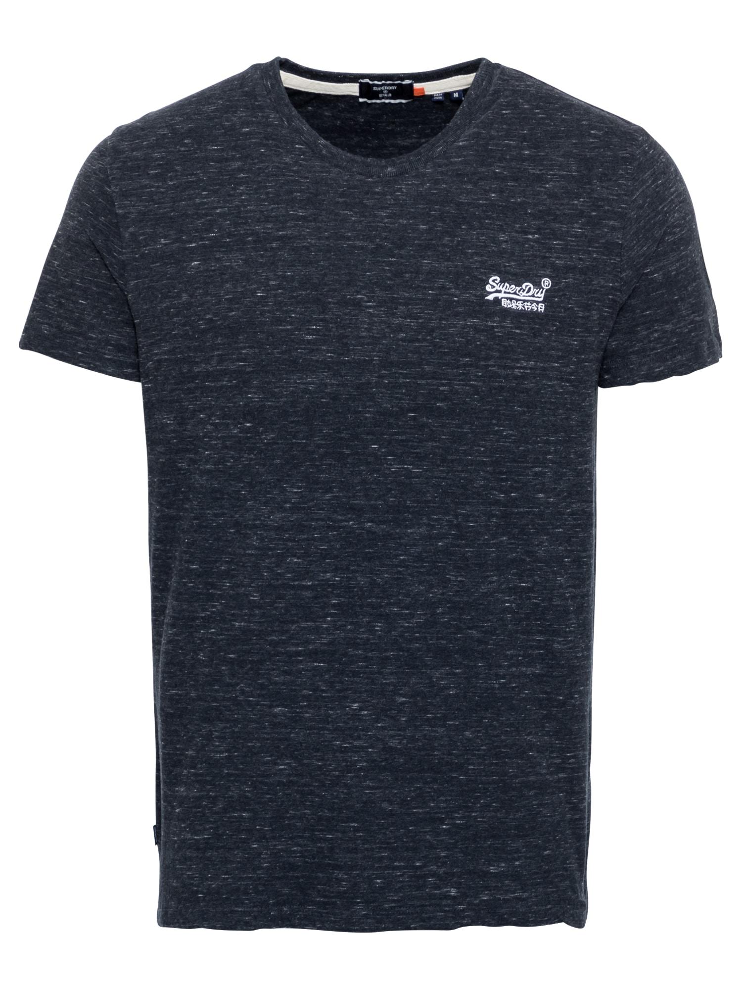 Superdry Marškinėliai balta / nakties mėlyna