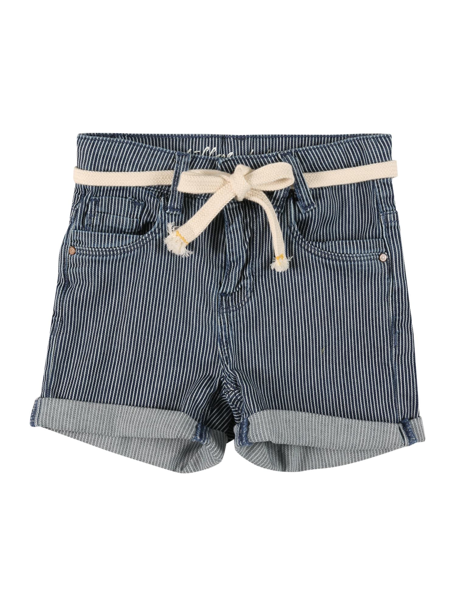 STACCATO Kelnės balta / tamsiai (džinso) mėlyna
