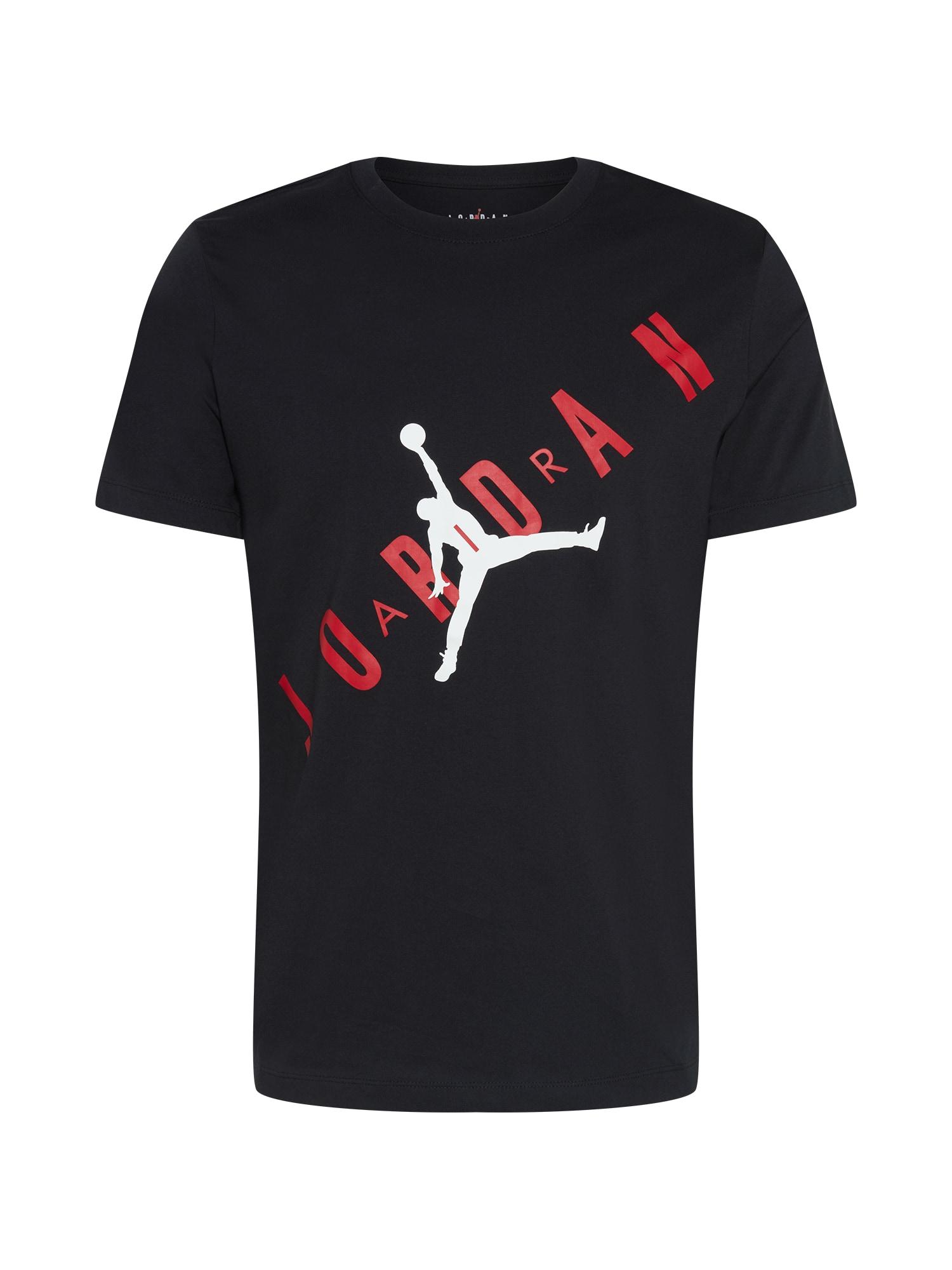 Jordan Marškinėliai juoda / balta / raudona