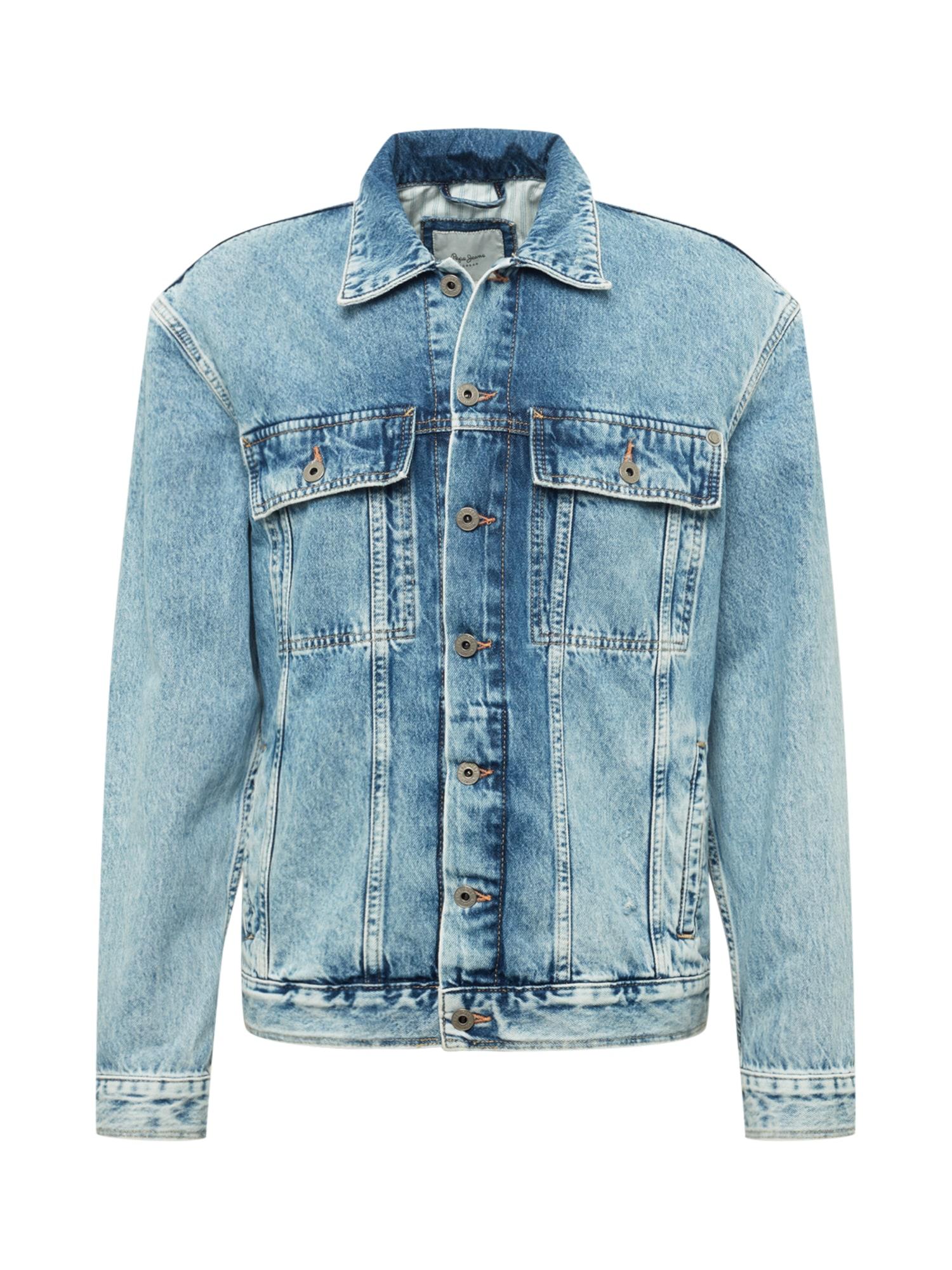 Pepe Jeans Demisezoninė striukė 'YOUNG' tamsiai (džinso) mėlyna