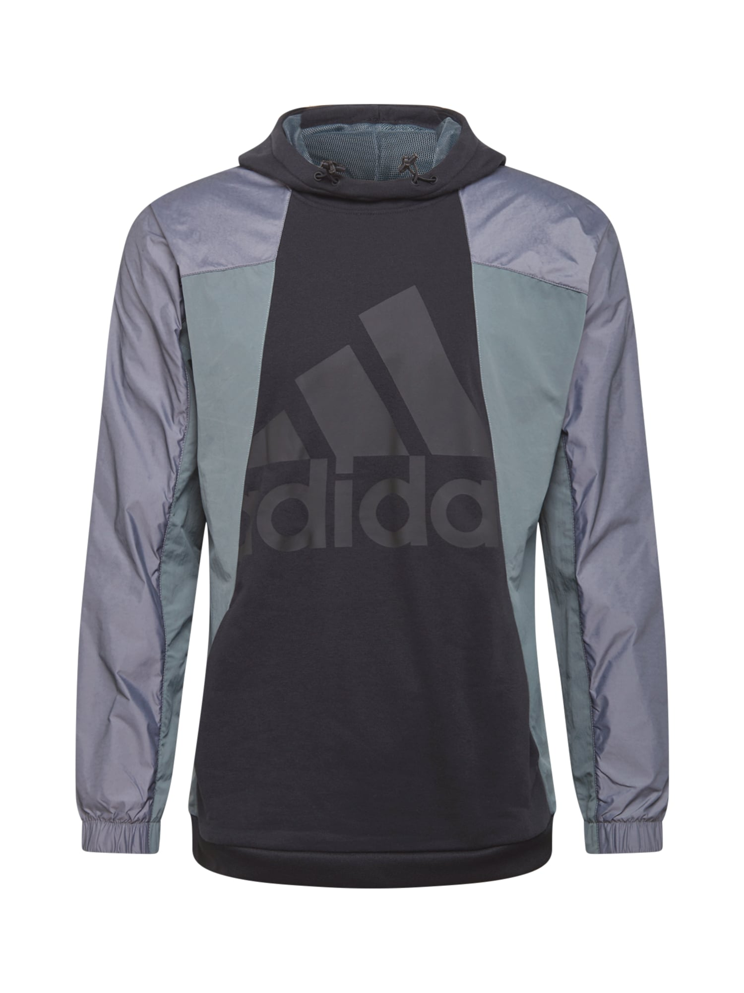 ADIDAS PERFORMANCE Sportinio tipo megztinis juoda / pilka / mėtų spalva