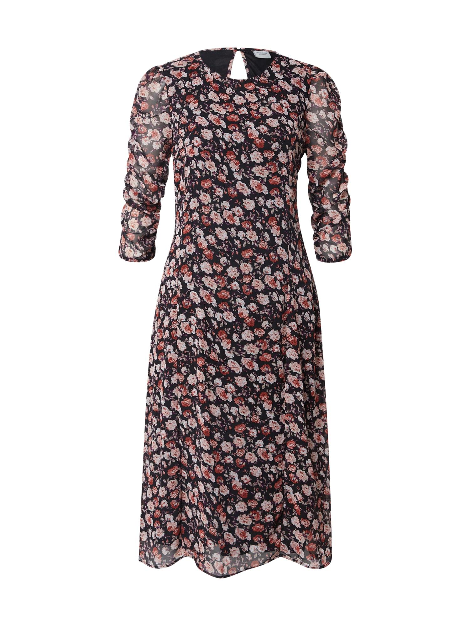 JACQUELINE de YONG Suknelė ryškiai rožinė spalva / juoda / šviesiai rožinė