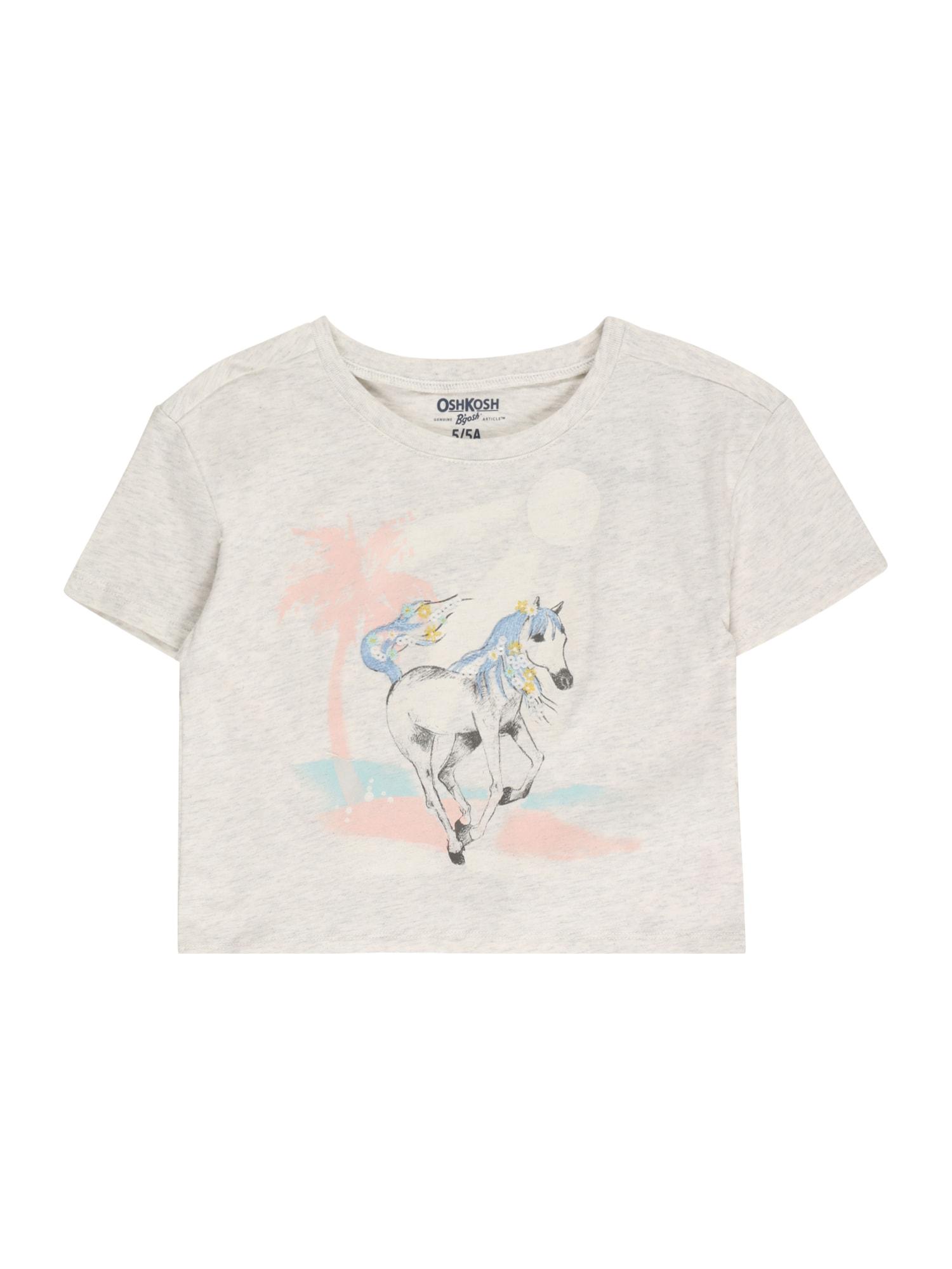 OshKosh Marškinėliai balta / abrikosų spalva / šviesiai mėlyna / juoda / margai pilka
