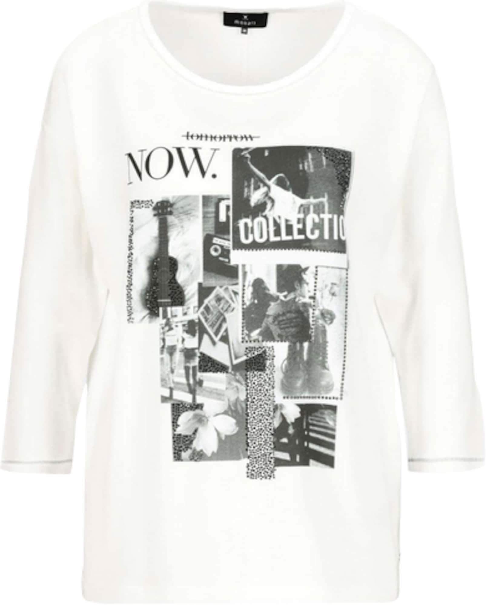 monari Marškinėliai balta / pilka / juoda