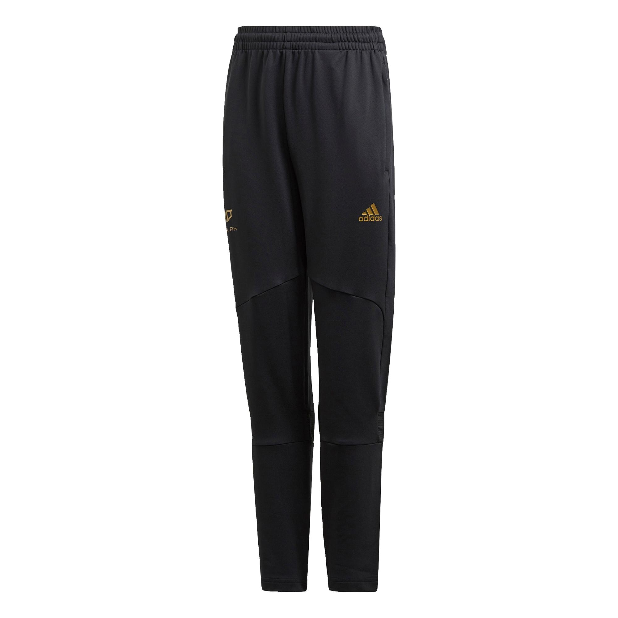 ADIDAS PERFORMANCE Sportinės kelnės juoda / aukso geltonumo spalva