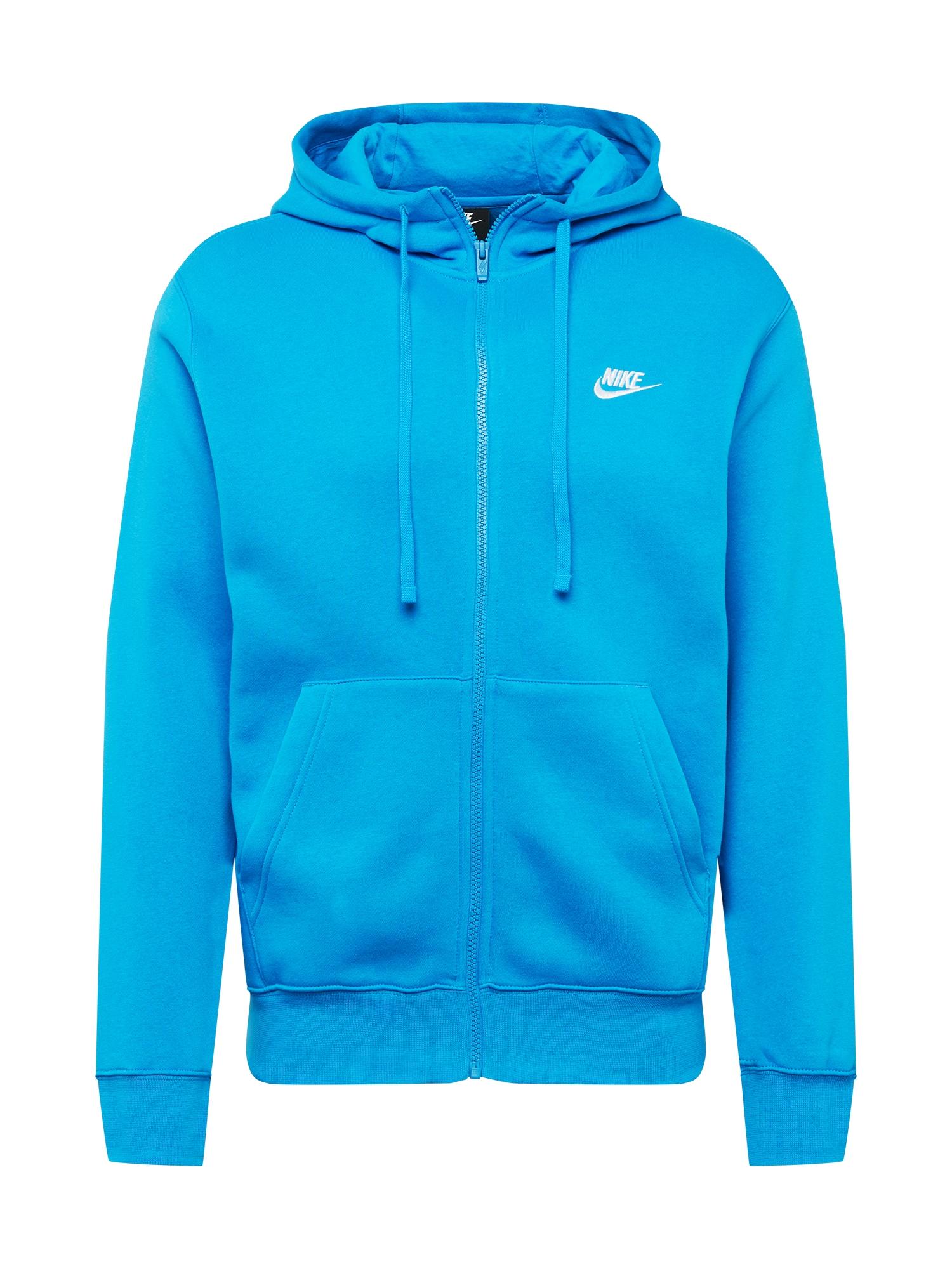 Nike Sportswear Džemperis turkio spalva / balta