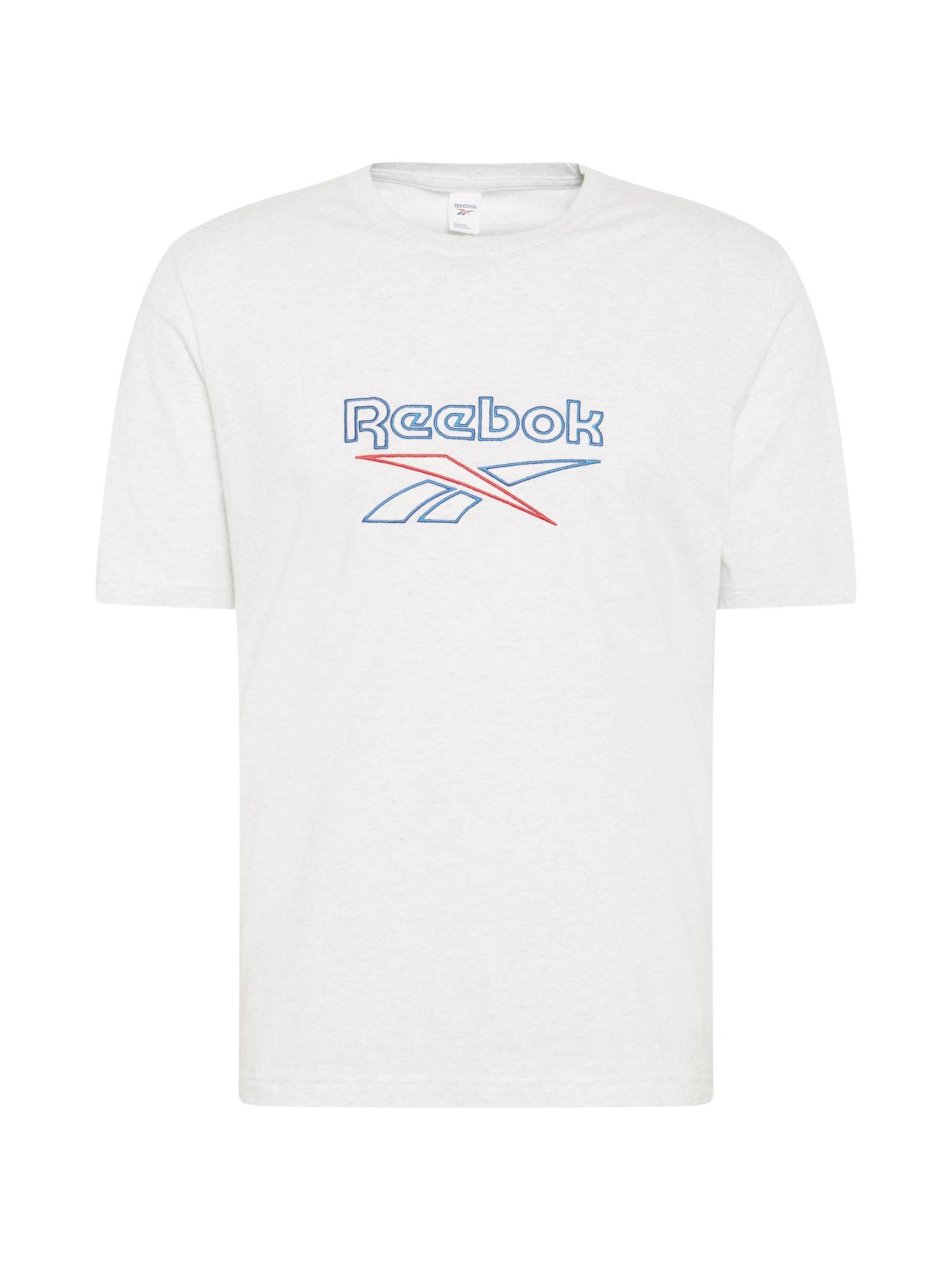 Reebok Classics Marškinėliai balta / mėlyna / raudona
