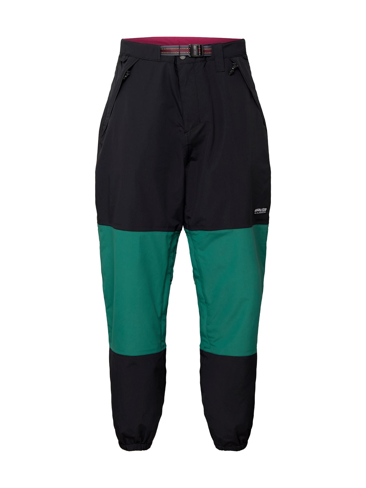 QUIKSILVER Outdoorové kalhoty 'BEATER'  zelená / černá