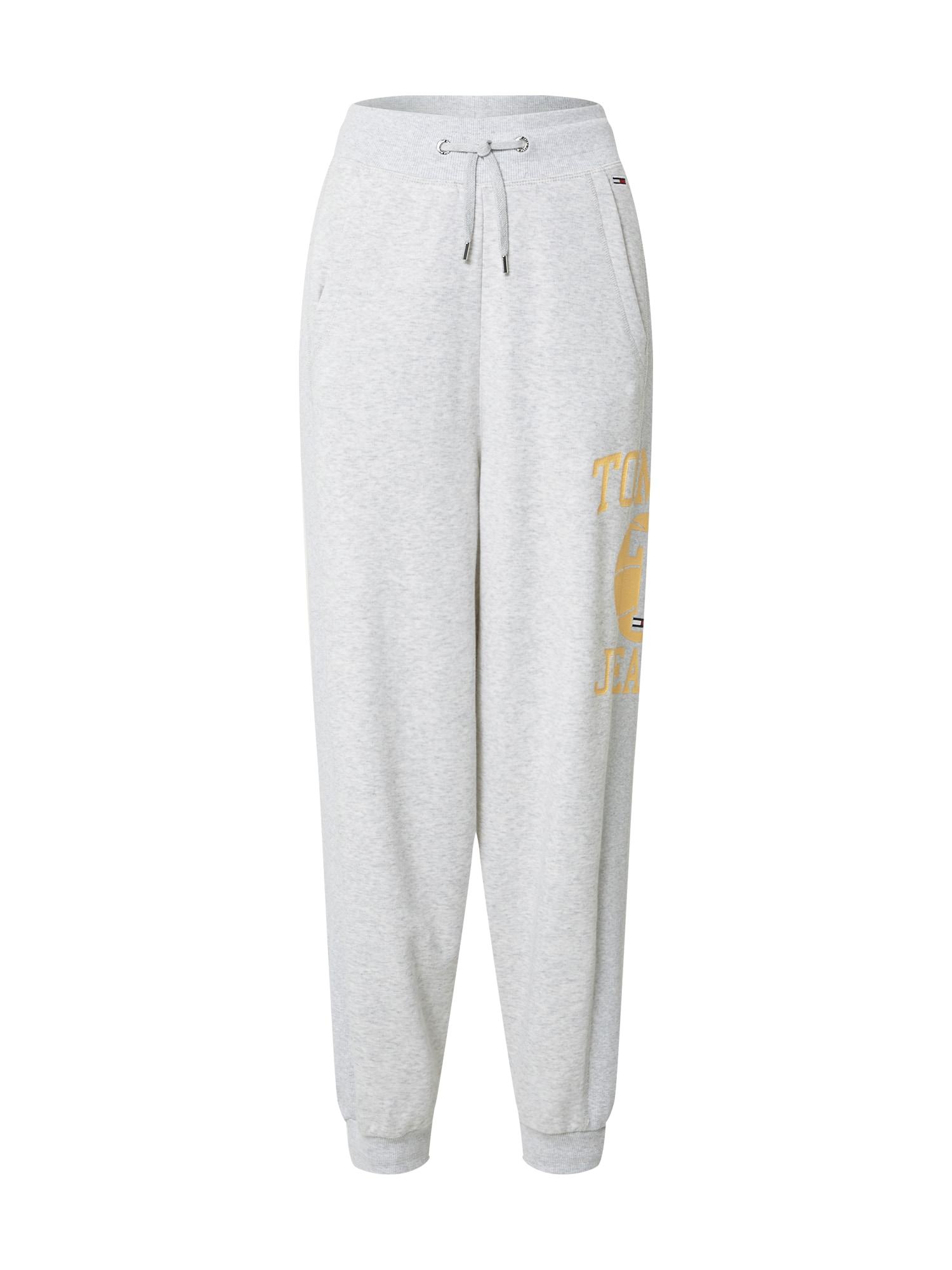 Tommy Jeans Kelnės margai pilka / šafrano spalva