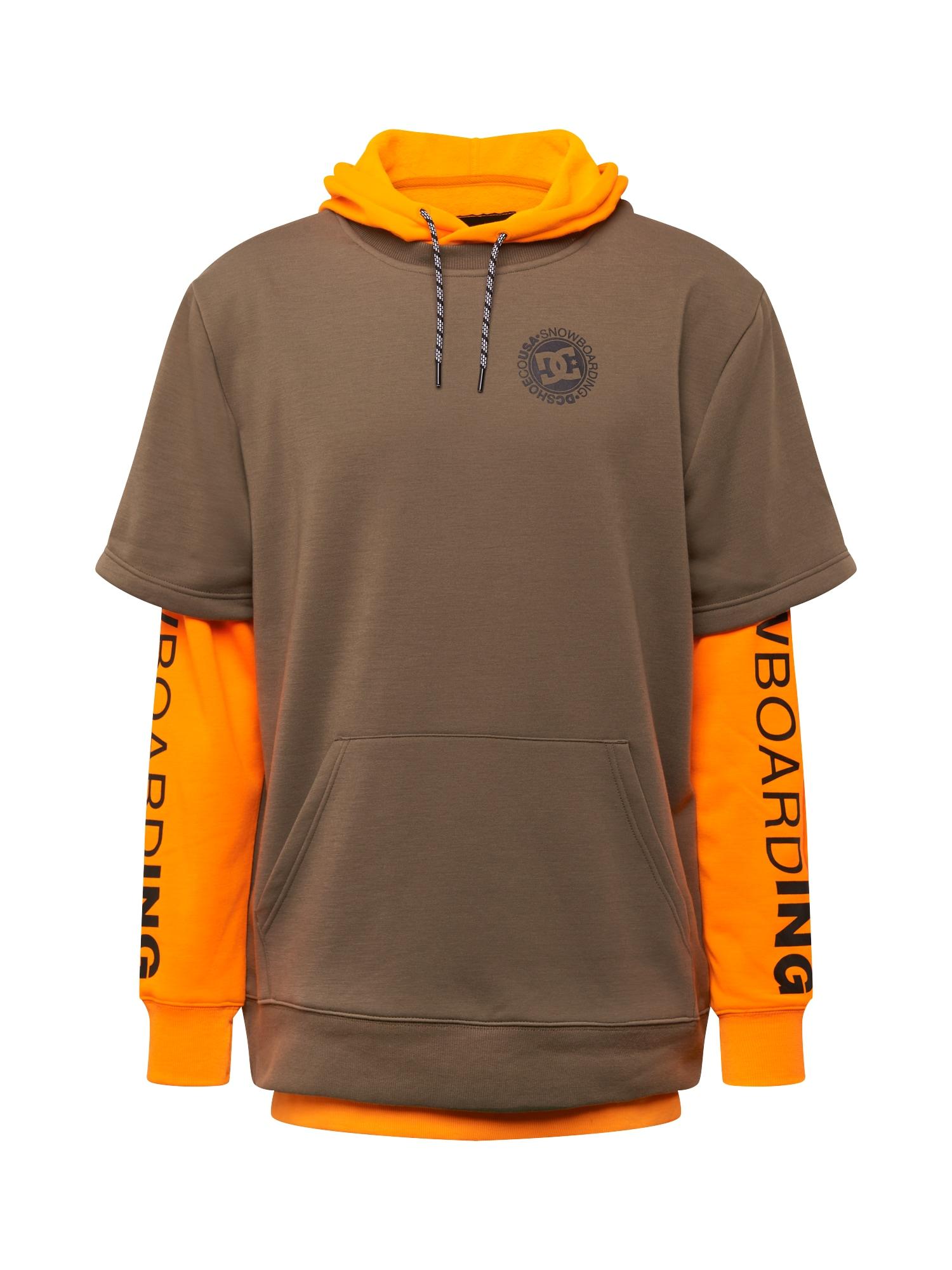 DC Shoes Sportovní svetr  oranžová / hnědá