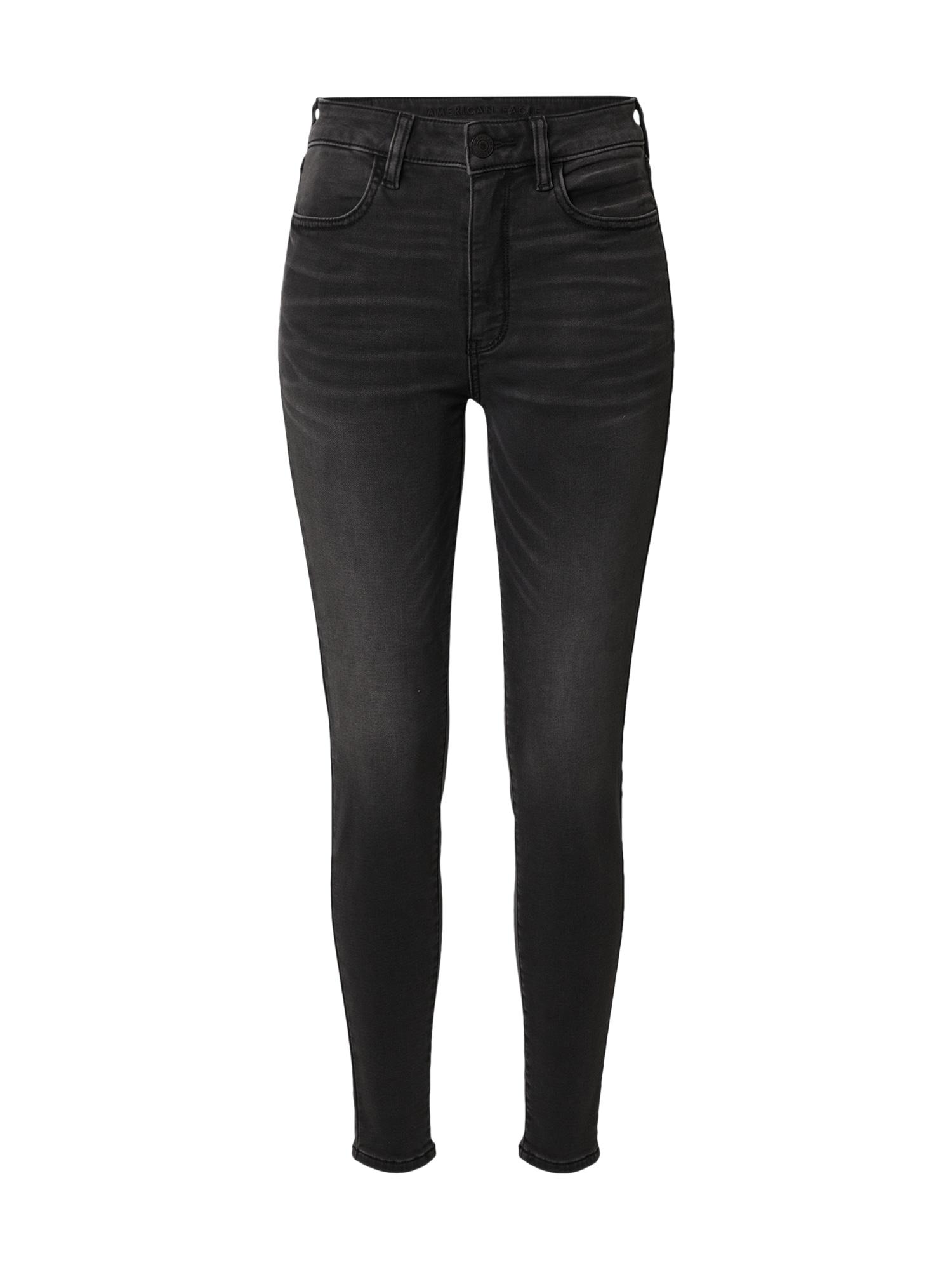 American Eagle Džinsai juodo džinso spalva