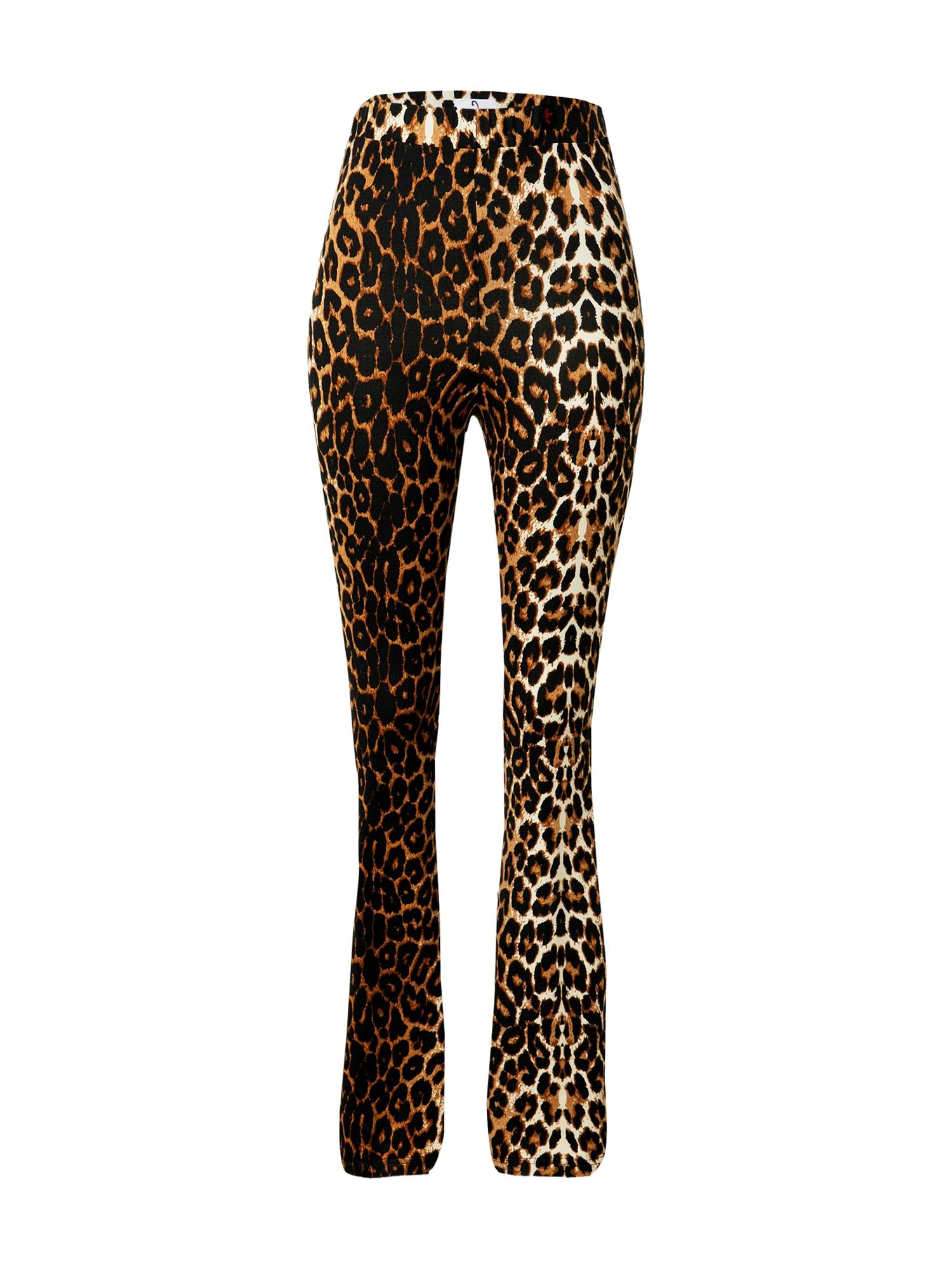 VIERVIER Kelnės 'Maira' ruda / mišrios spalvos
