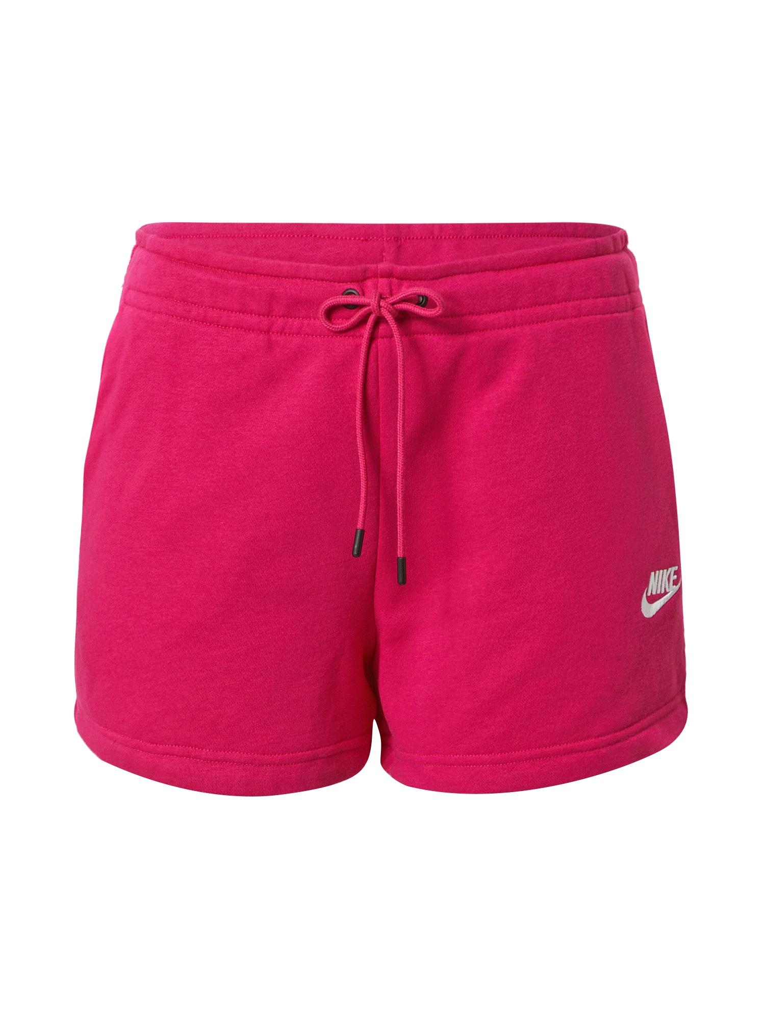 Nike Sportswear Kelnės fuksijų spalva / balta