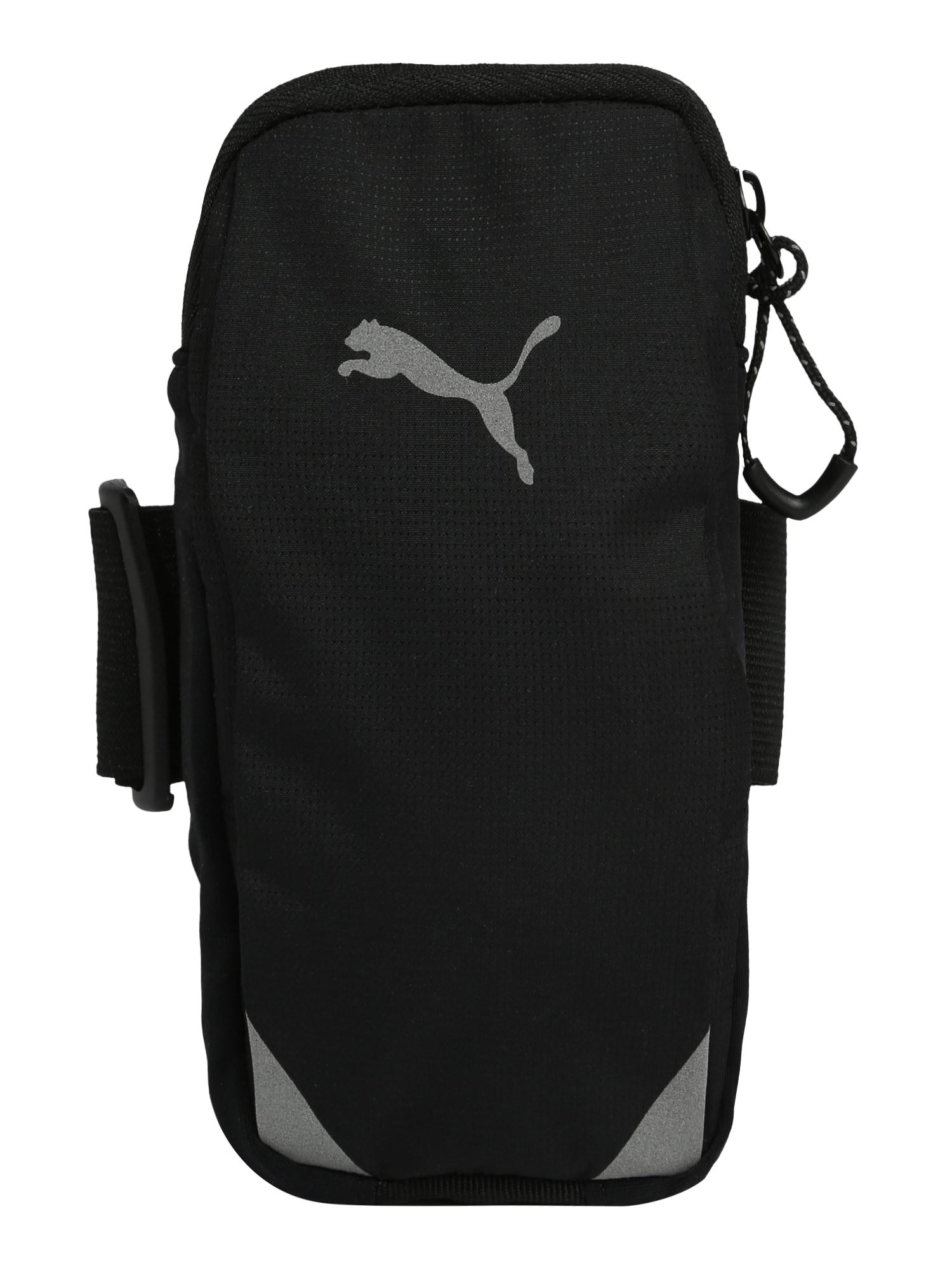 PUMA Sportinis krepšys juoda / pilka