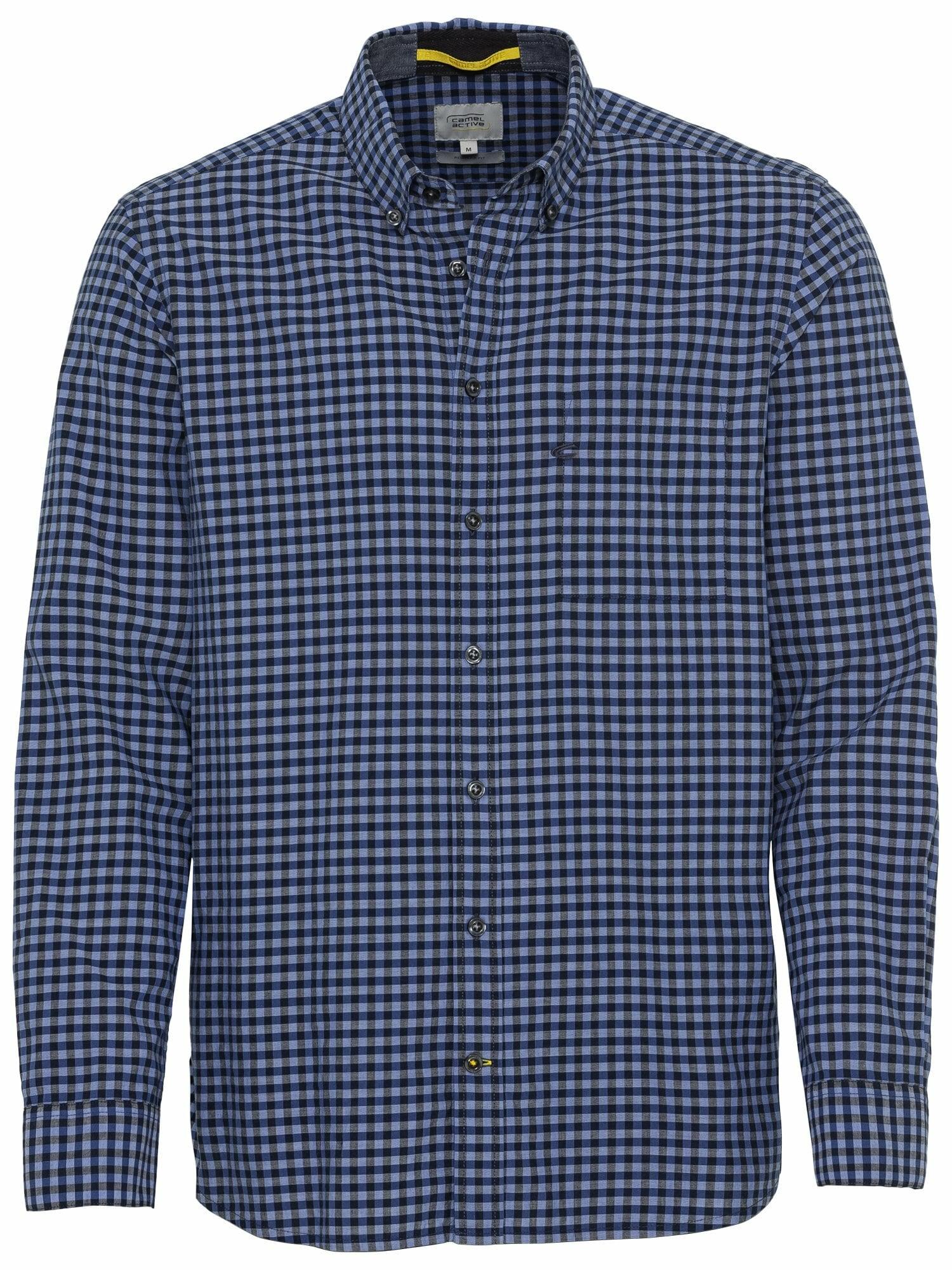 CAMEL ACTIVE Marškiniai mėlyna / tamsiai mėlyna