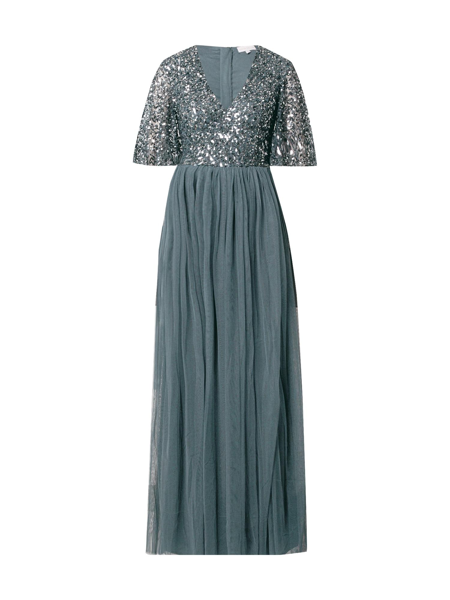 Maya Deluxe Vakarinė suknelė rausvai pilka