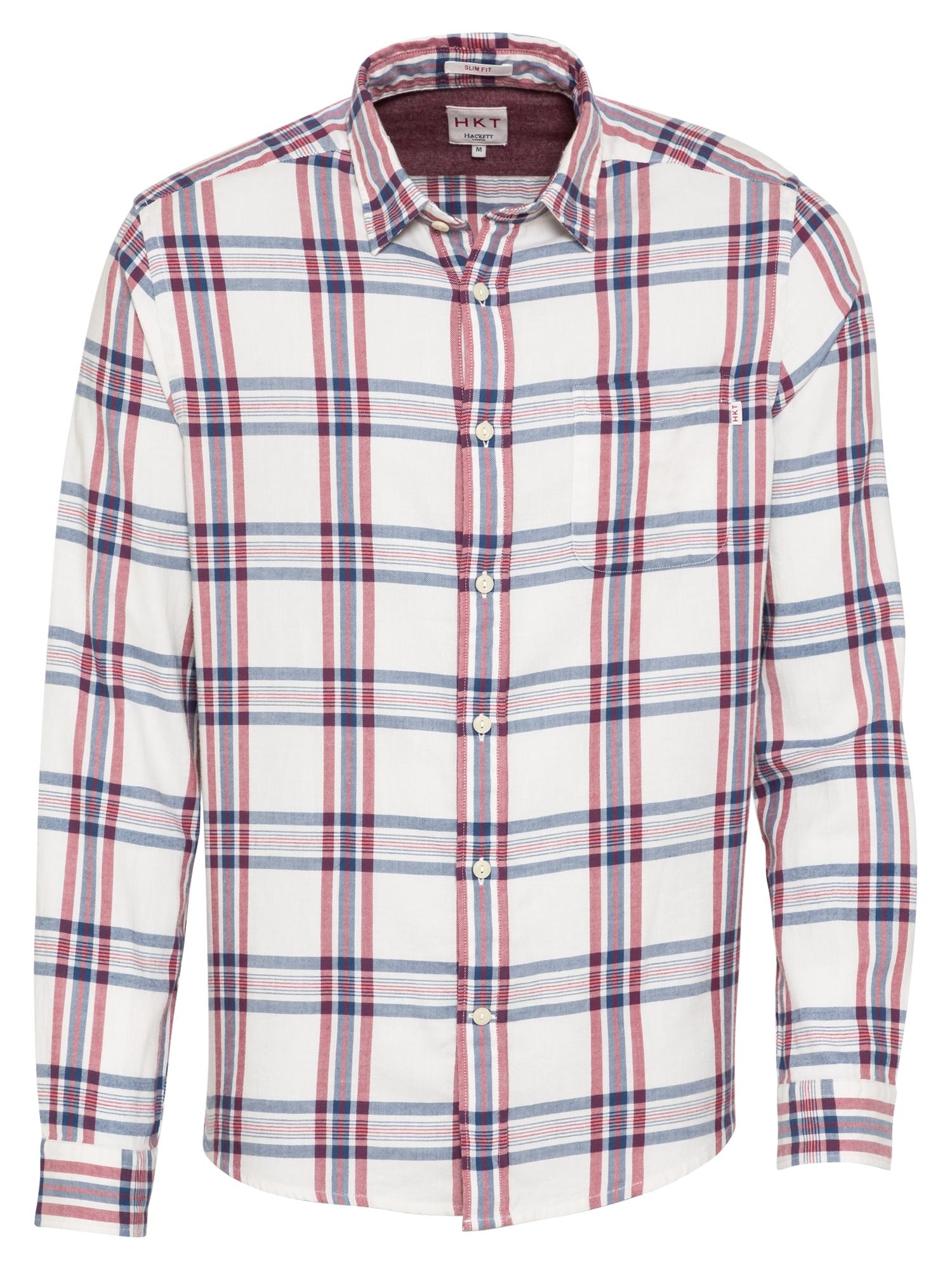 HKT by HACKETT Marškiniai tamsiai raudona / tamsiai mėlyna / natūrali balta