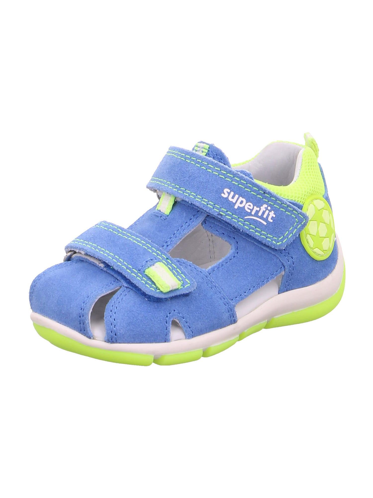 SUPERFIT Atviri batai dangaus žydra / neoninė žalia