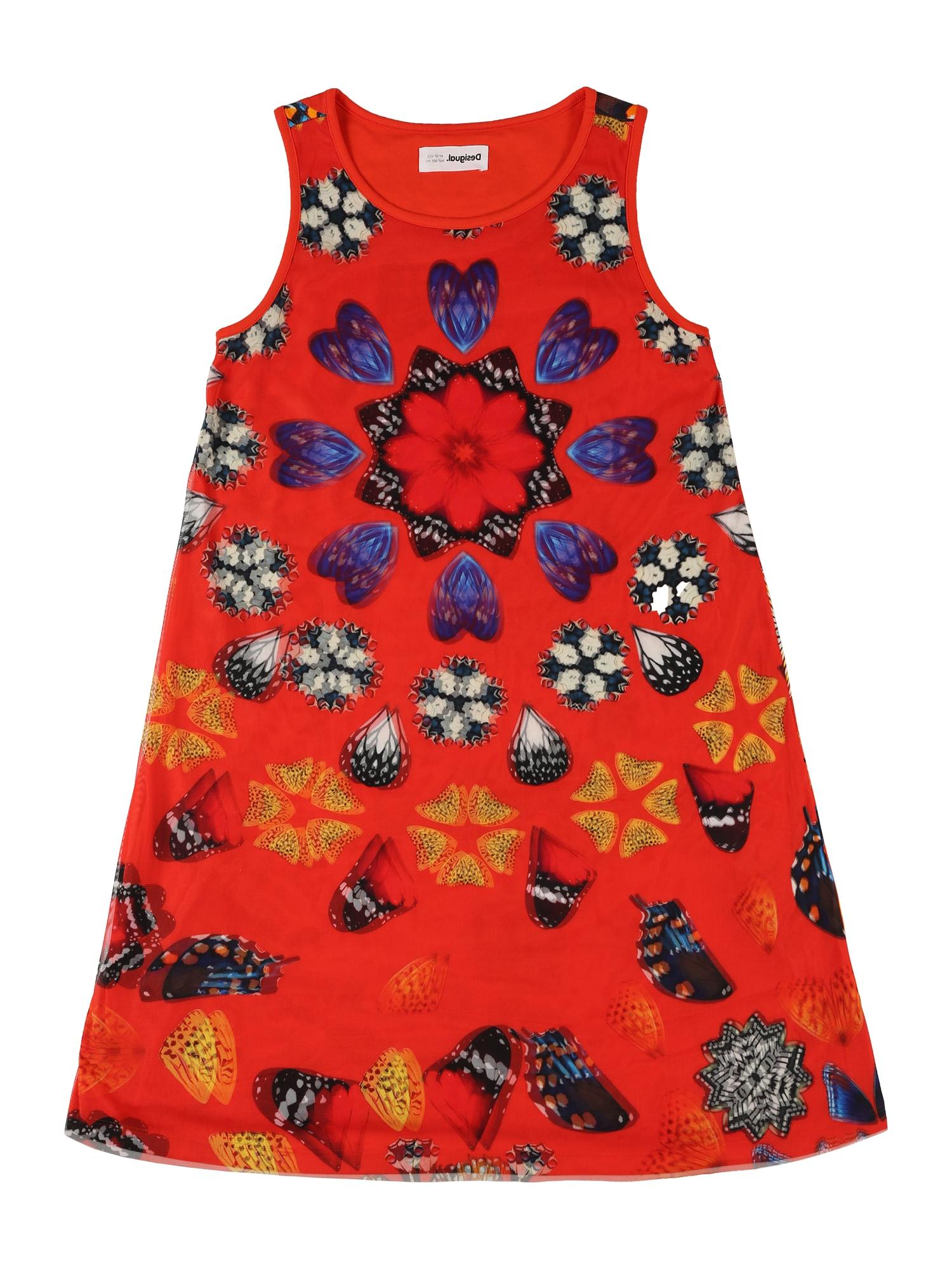 Desigual Suknelė raudona / mišrios spalvos