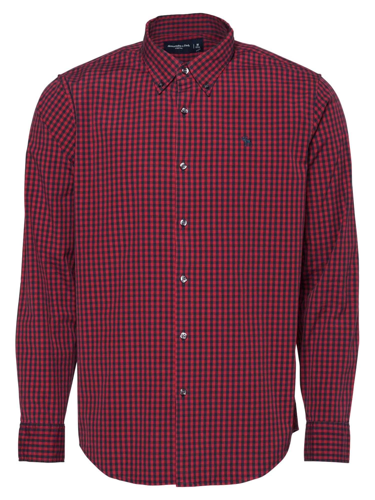 Abercrombie & Fitch Marškiniai tamsiai raudona / tamsiai mėlyna