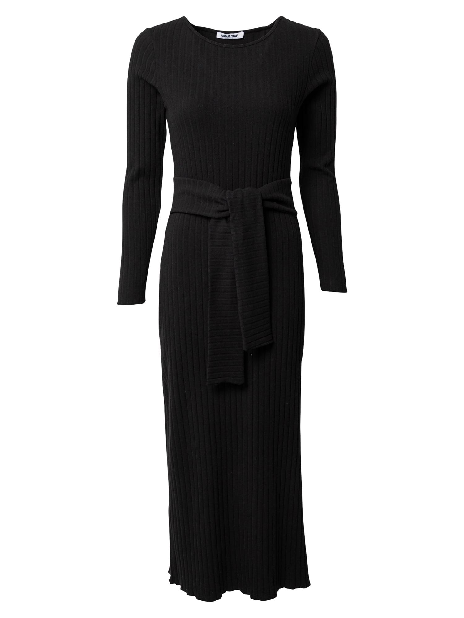 ABOUT YOU Úpletové šaty 'Victoria'  černá