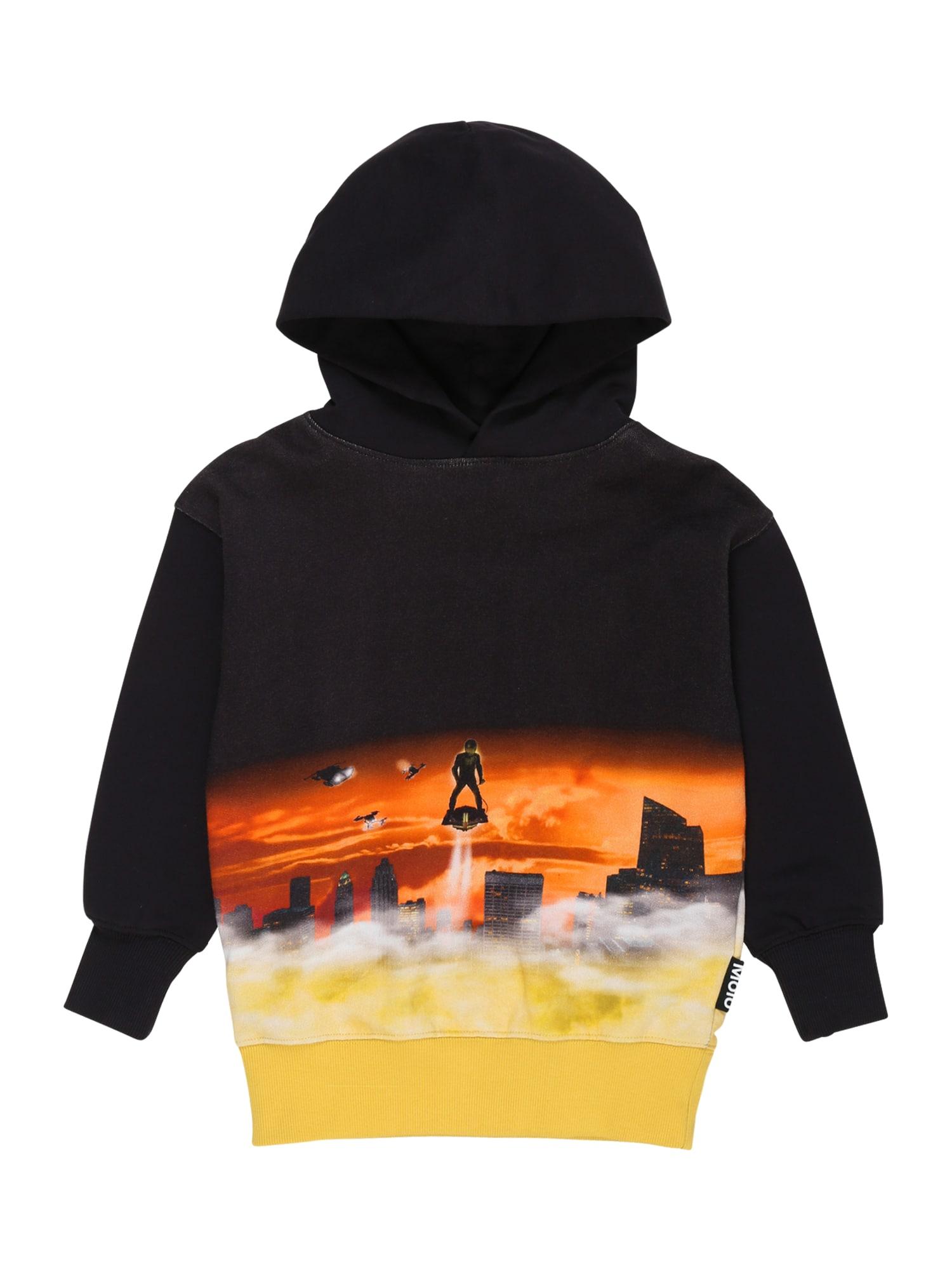 Molo Megztinis be užsegimo juoda / ugnies raudona / geltona / pilka