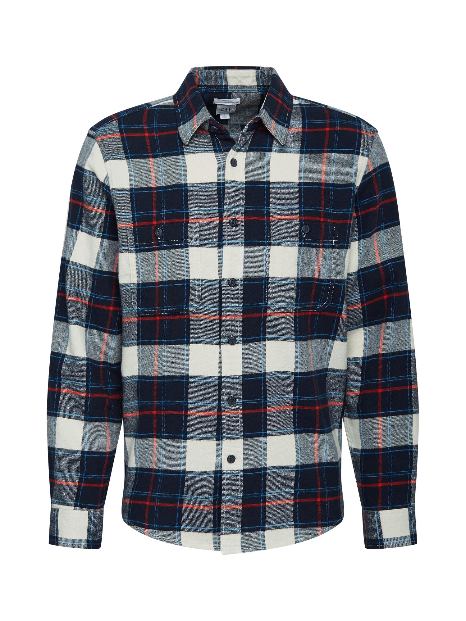GAP Marškiniai tamsiai mėlyna / balta / raudona / šviesiai mėlyna