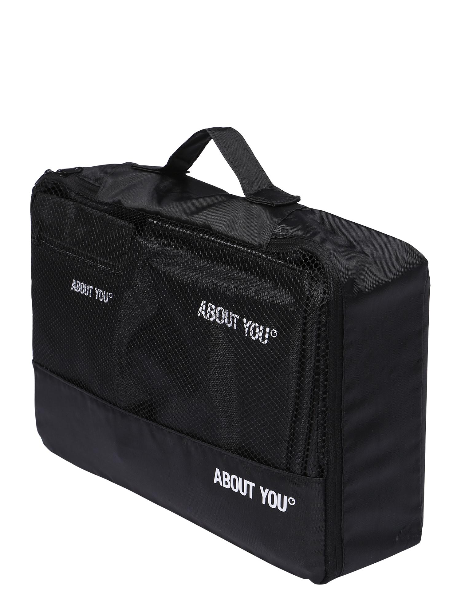 ABOUT YOU Kelioninis krepšys 'Reise-Set' juoda