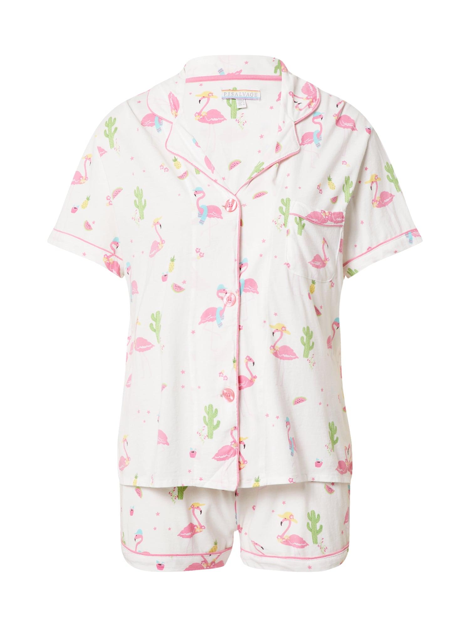 PJ Salvage Pyžamo ' Print '  bílá