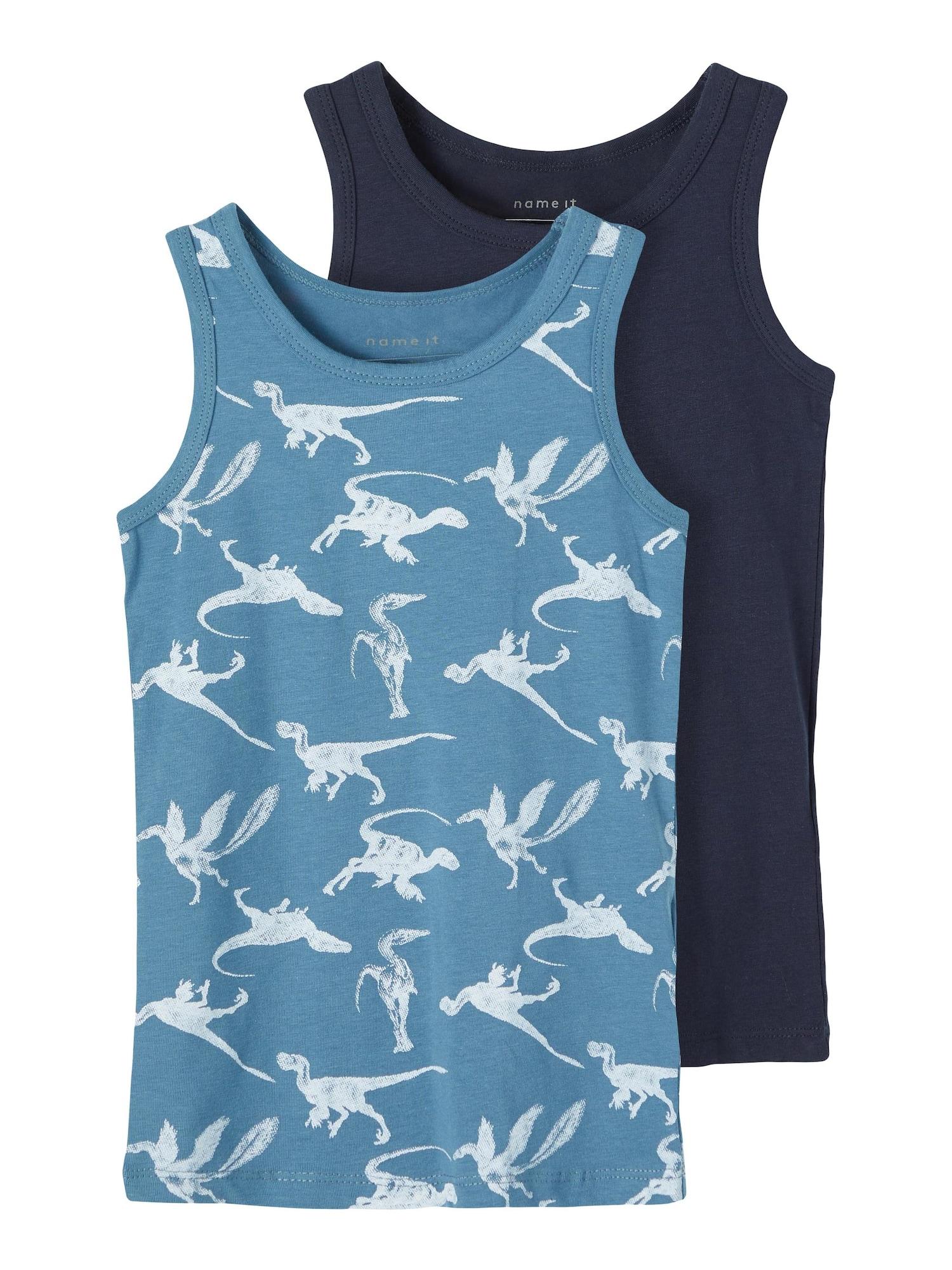 NAME IT Apatiniai marškinėliai turkio spalva / tamsiai mėlyna
