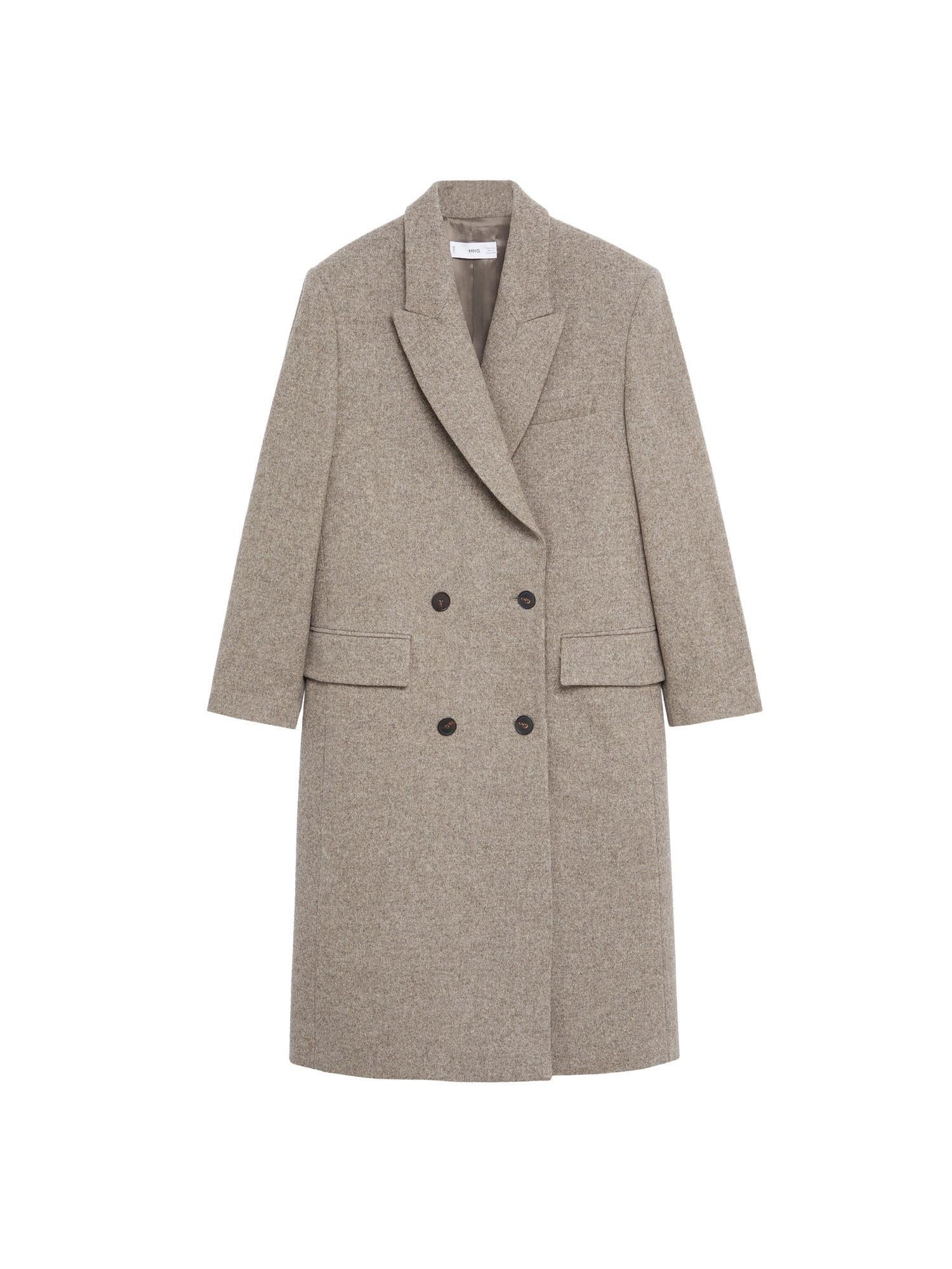 MANGO Přechodný kabát  hnědý melír