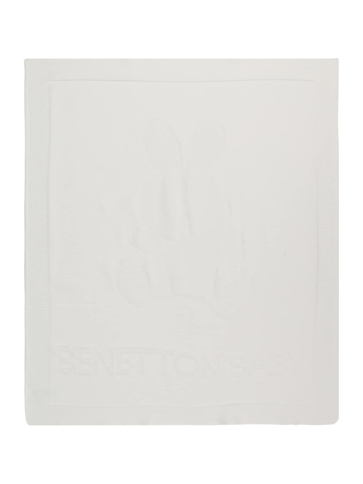 UNITED COLORS OF BENETTON Kūdikio antklodė balta