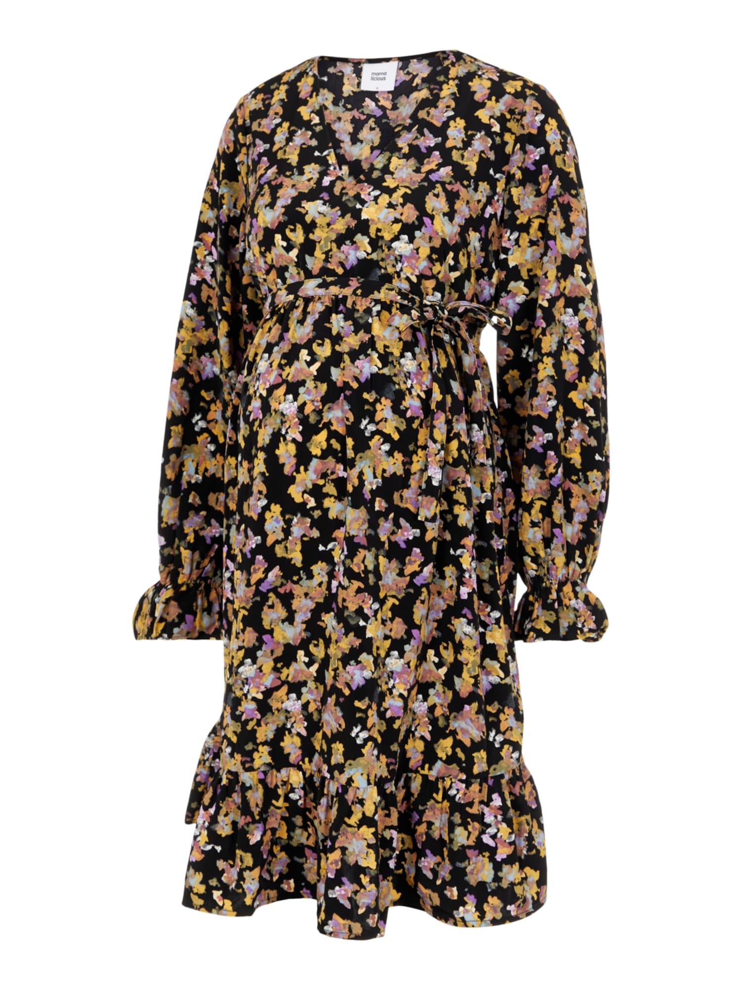 MAMALICIOUS Suknelė 'MLEMRA' juoda / mišrios spalvos