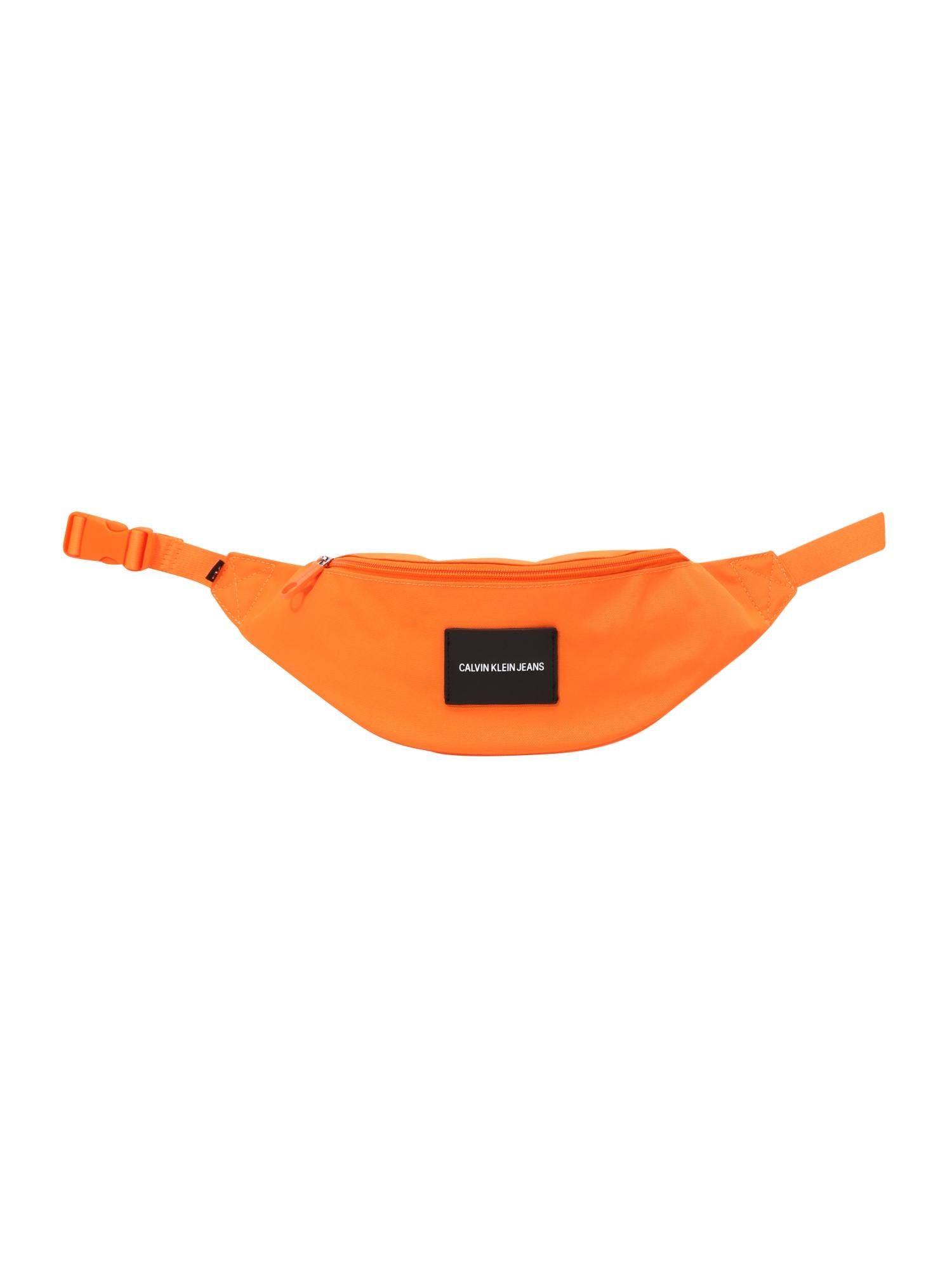 Calvin Klein Jeans Rankinė ant juosmens oranžinė / juoda