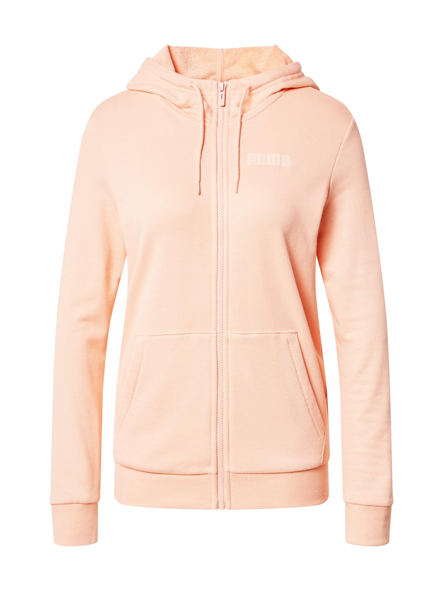 PUMA Sportinis džemperis abrikosų spalva