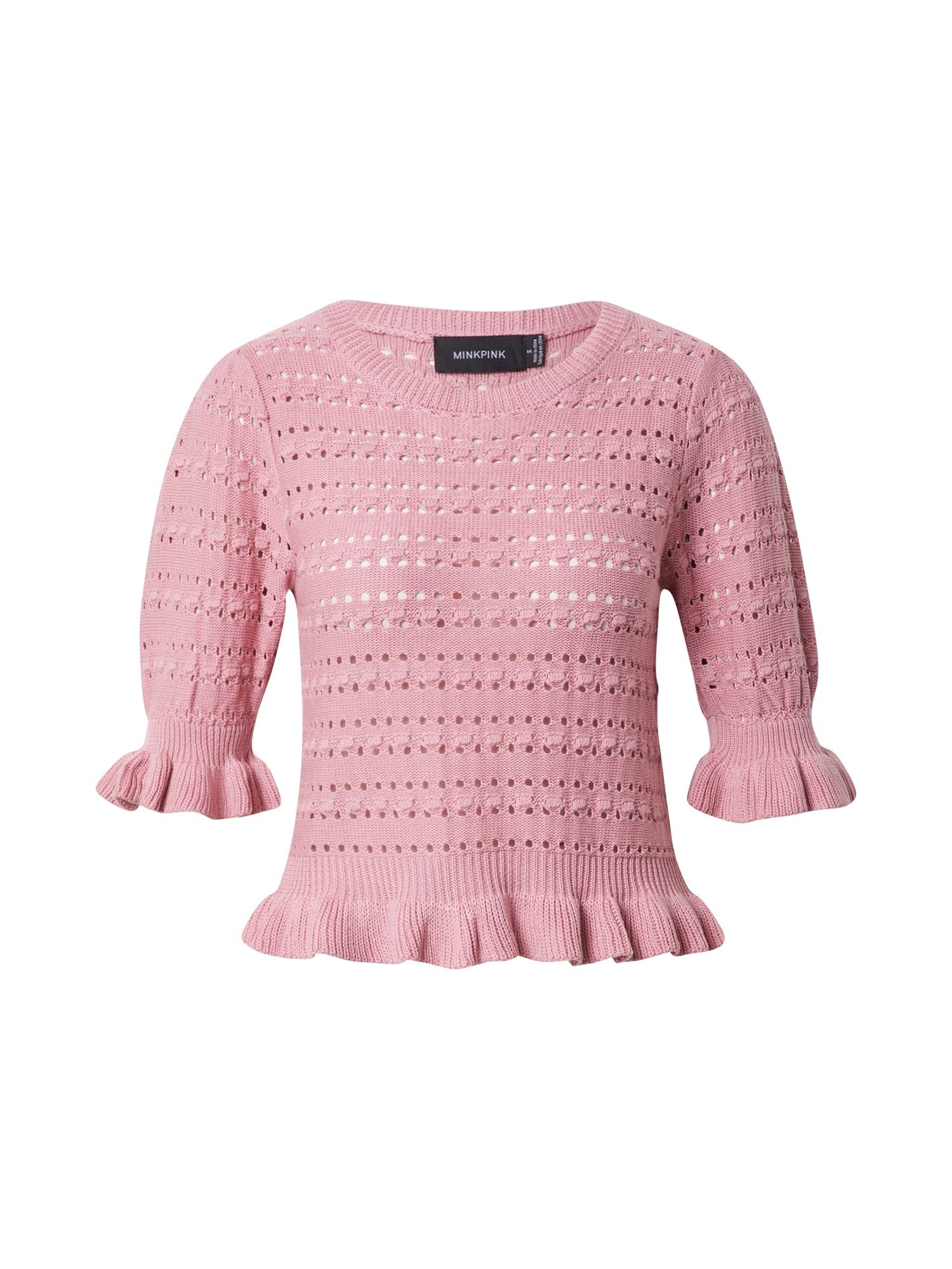 MINKPINK Megztinis rožinė
