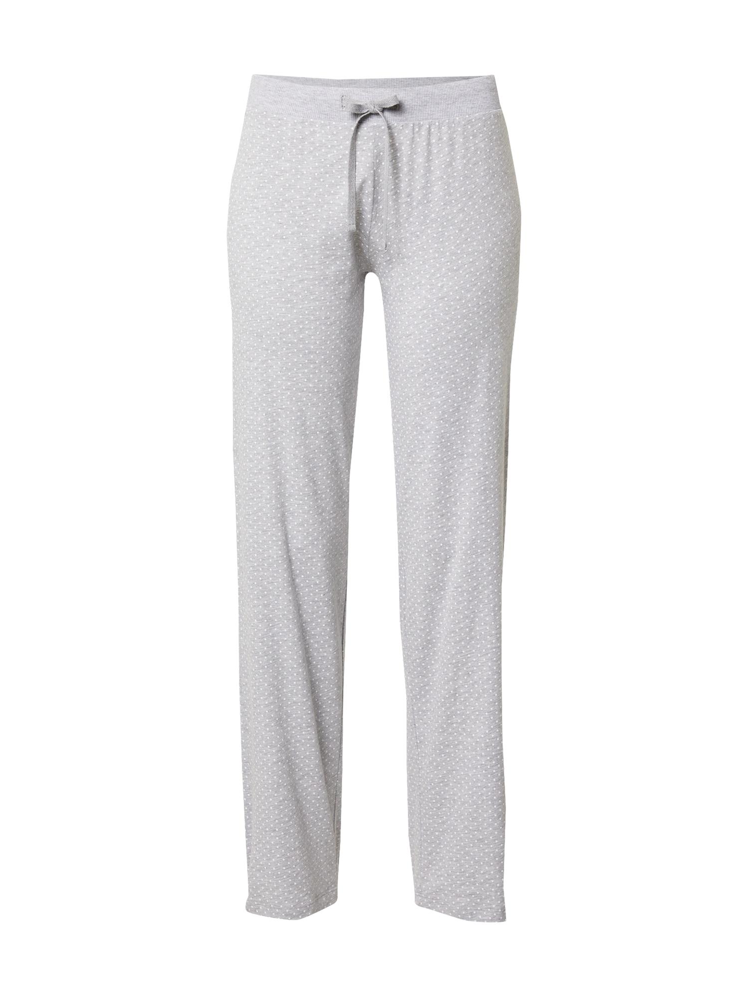 ESPRIT Pyžamové kalhoty 'Jordyn'  světle šedá / bílá