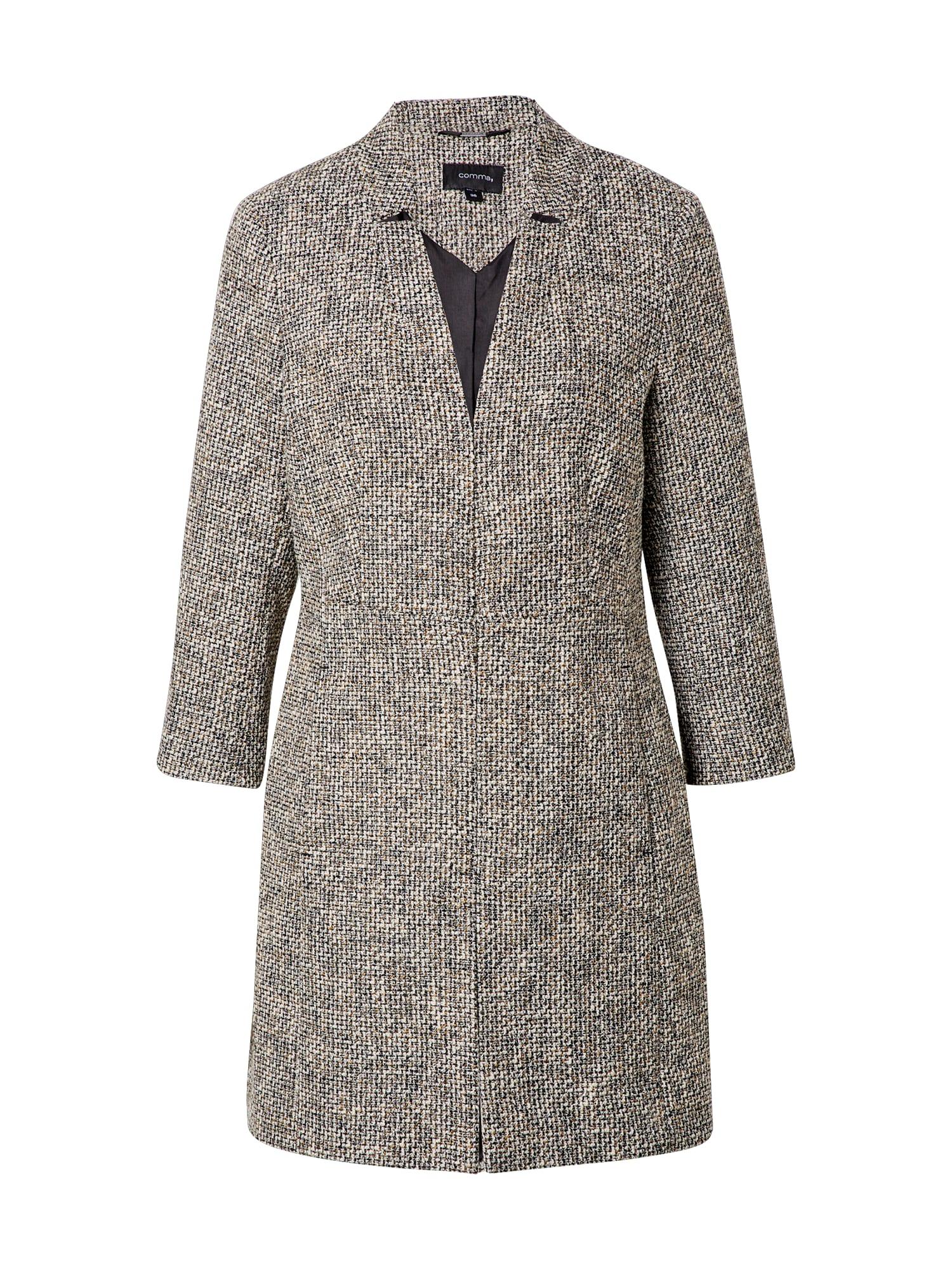COMMA Demisezoninis paltas margai pilka