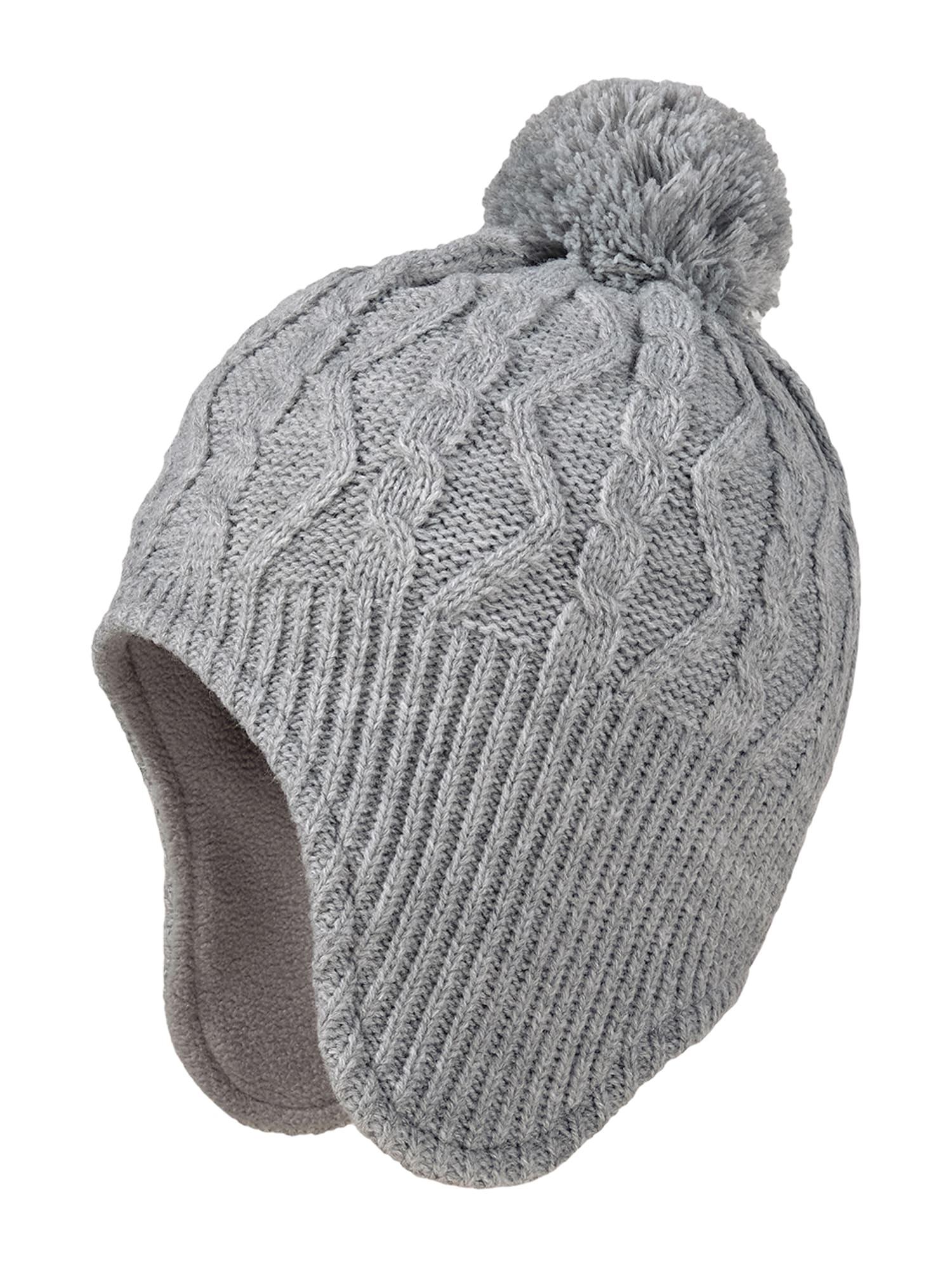 MAXIMO Megzta kepurė pilka