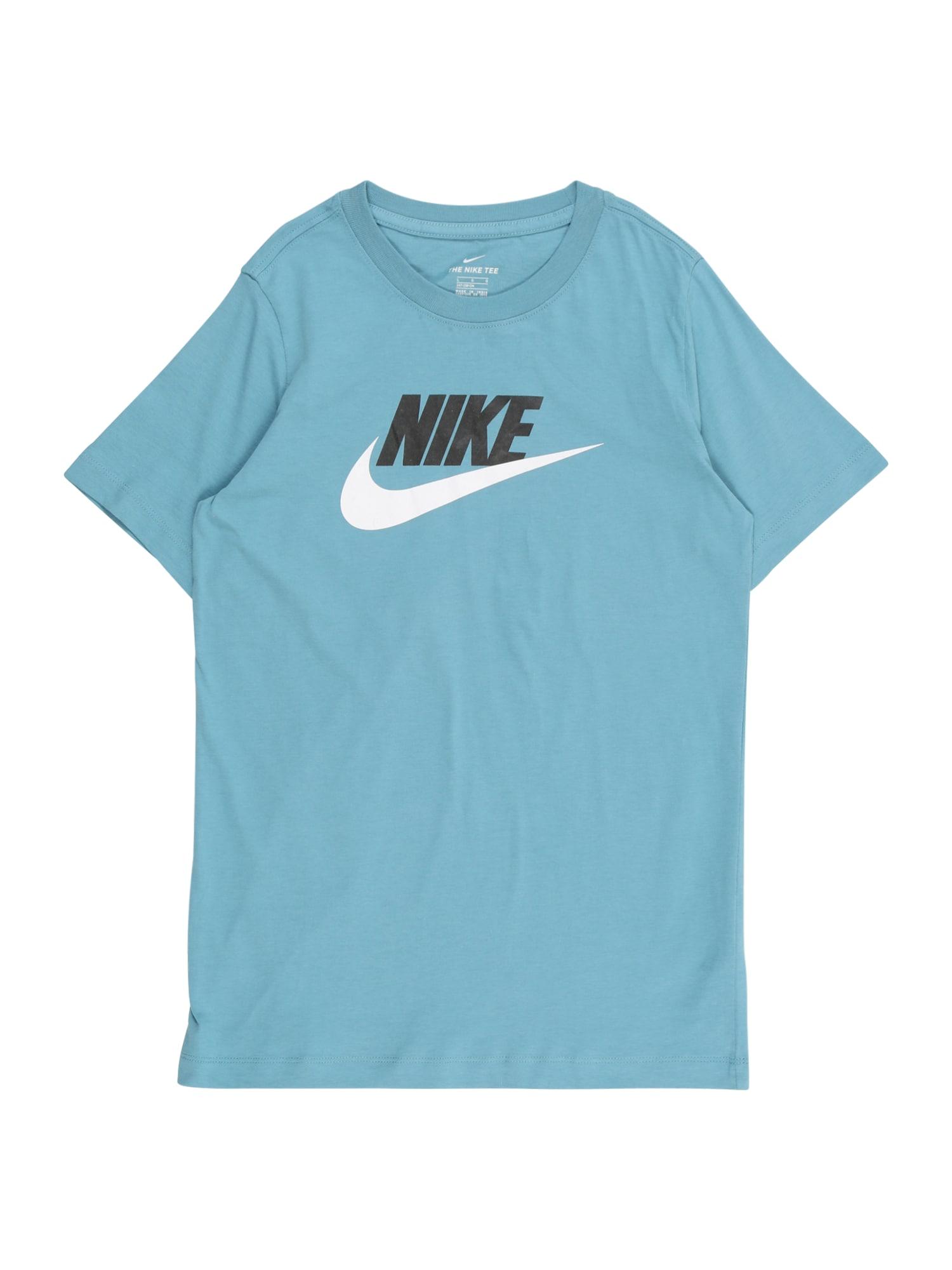 Nike Sportswear Tričko  světlemodrá / černá / bílá
